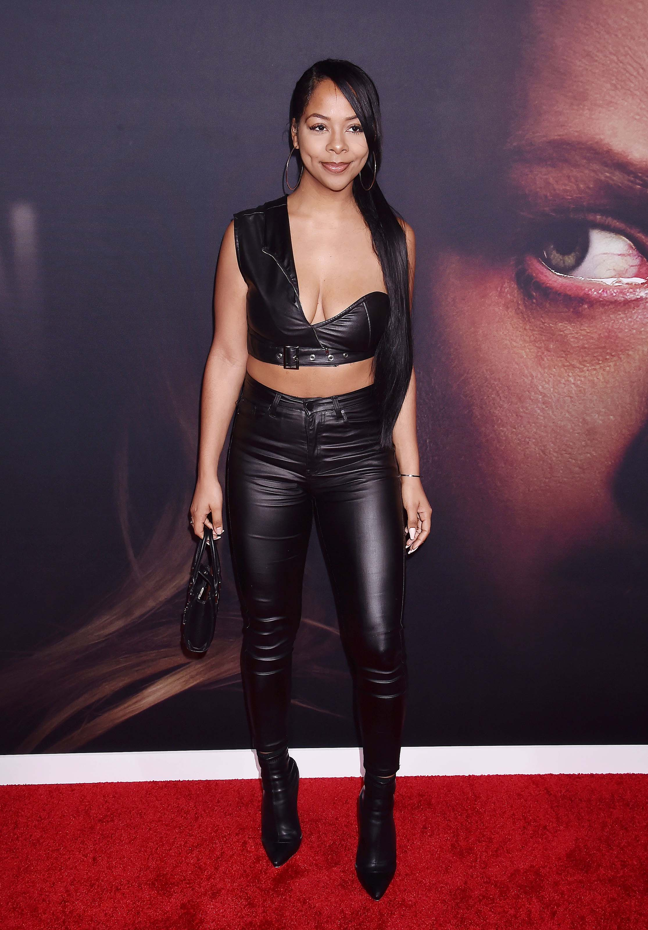 Yanira Pache attends The Invisible Man film premiere