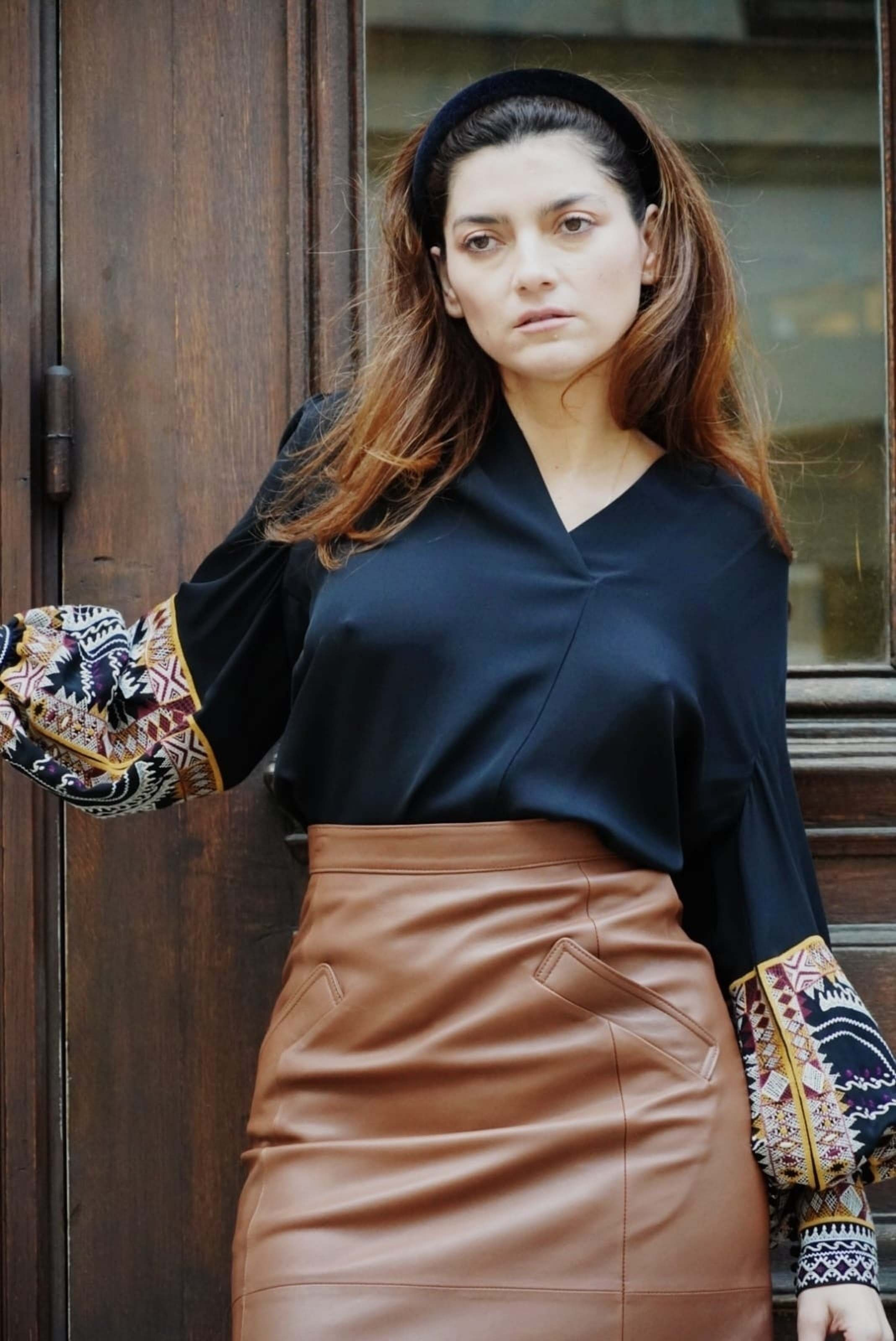 Blanca Blanco poses for a photoshoot in Paris