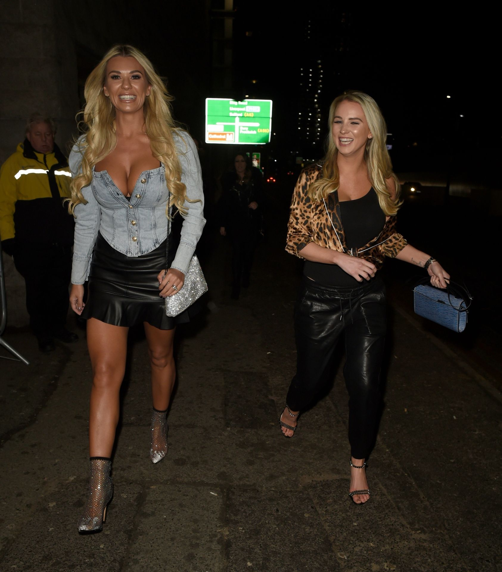 Christine McGuinness arriving at The Manchester Arena to watch The Blast Off Tour