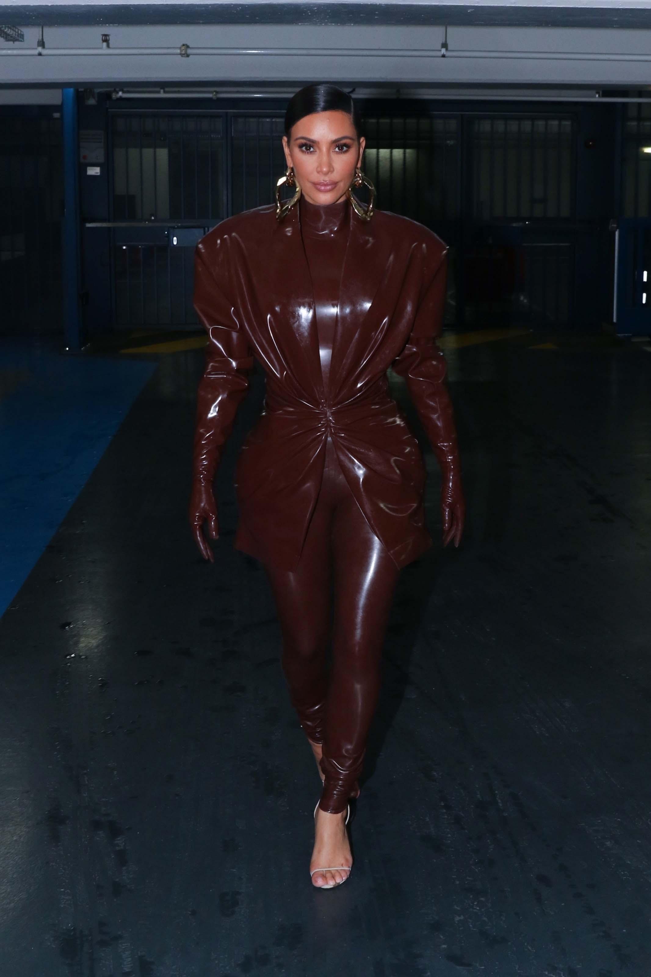 Kim Kardashian seen leaving her hotel in Paris