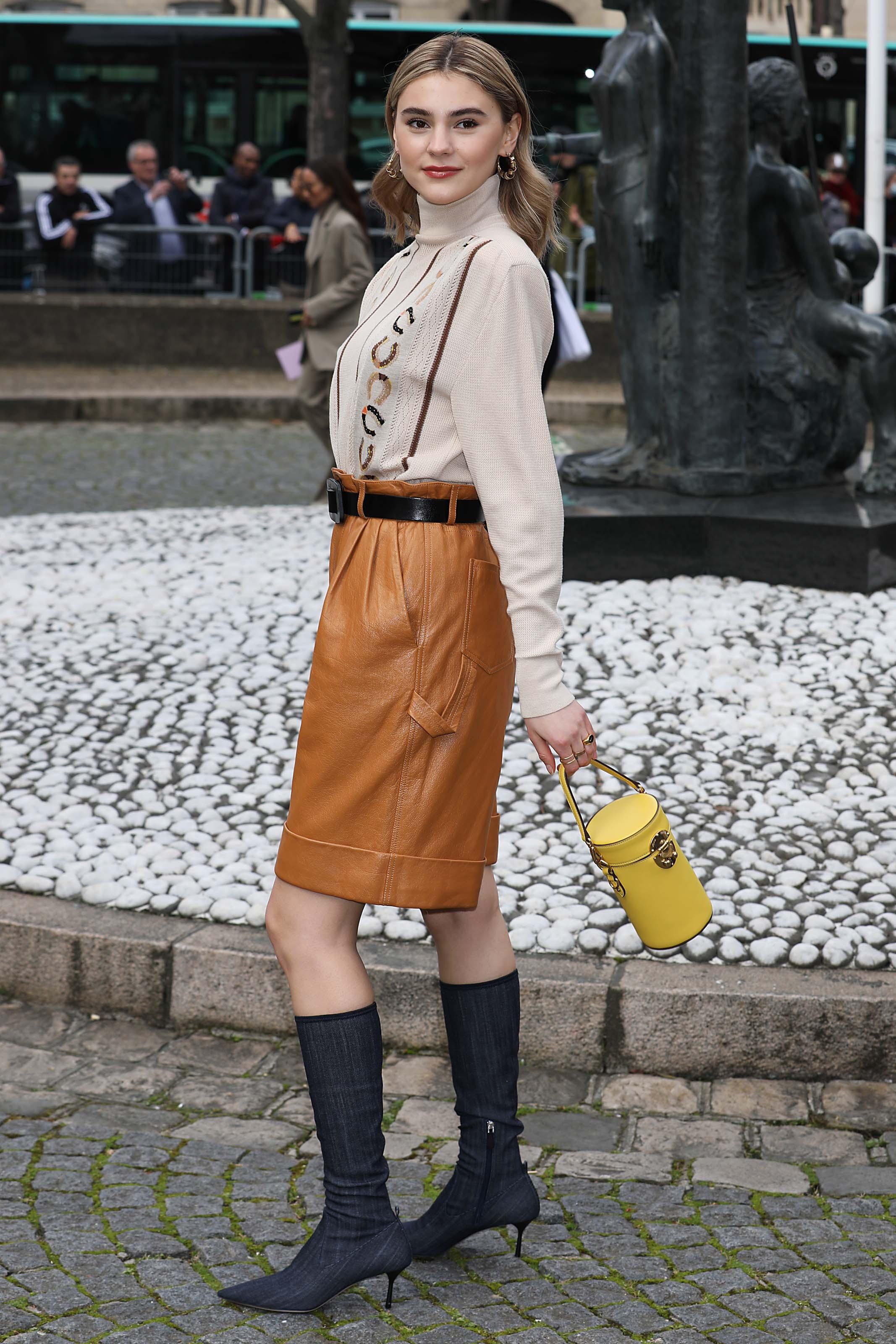 Stefanie Giesinger attends Miu Miu show