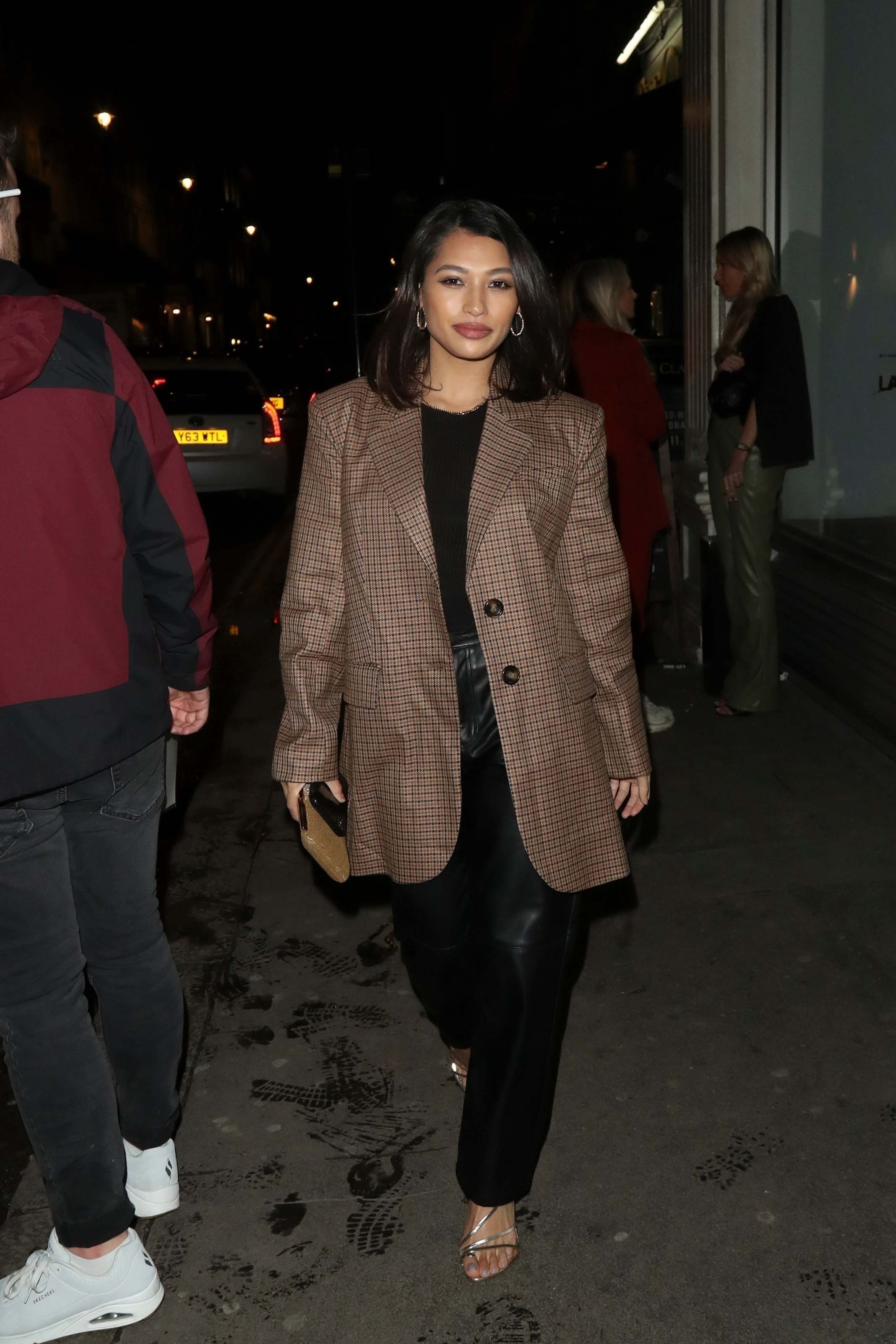 Vanessa White pictured arriving at Mahiki