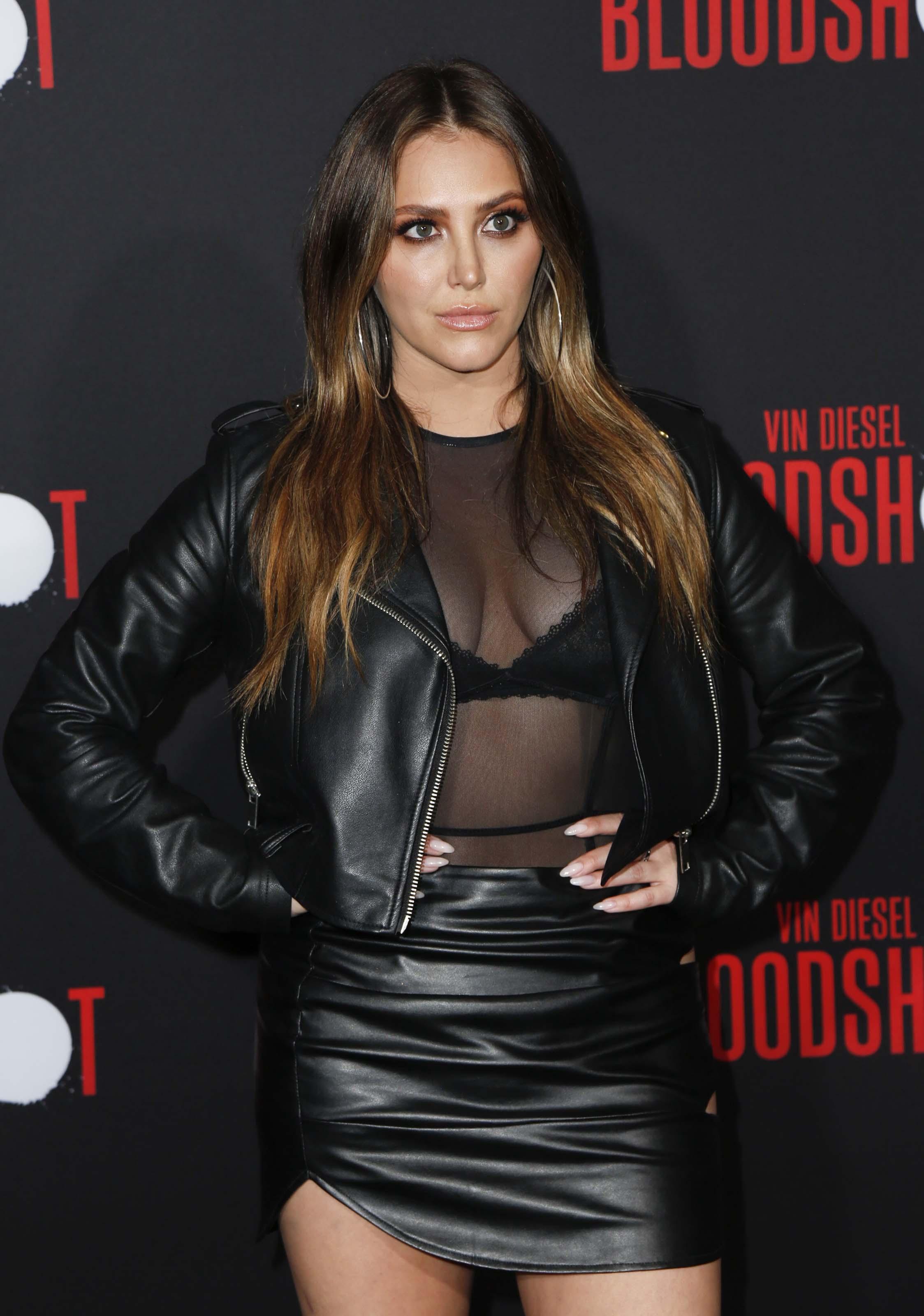 Cassie Scerbo at Bloodshot Los Angeles Premiere