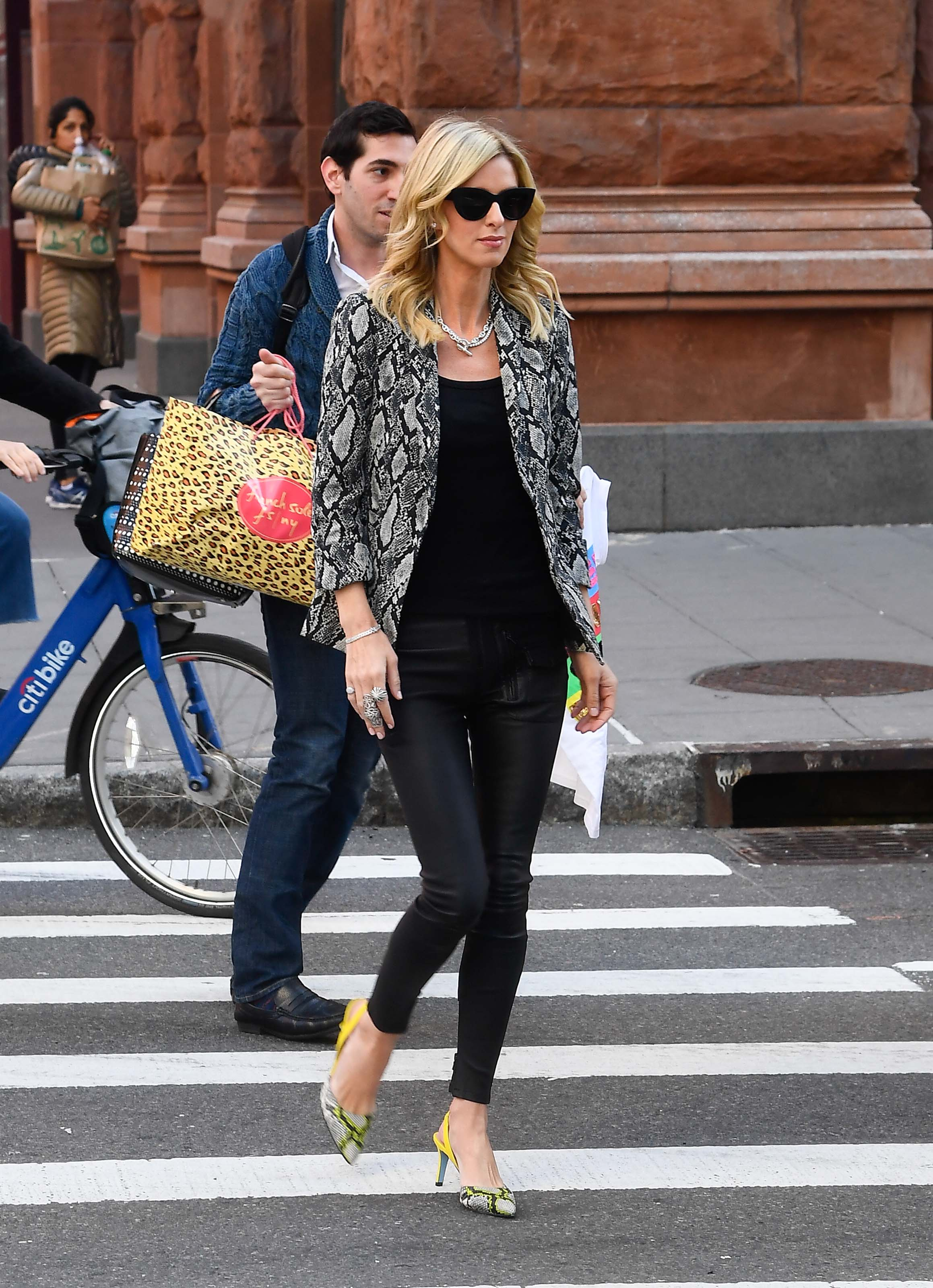 Nicky Hilton Rothschild at AOL building