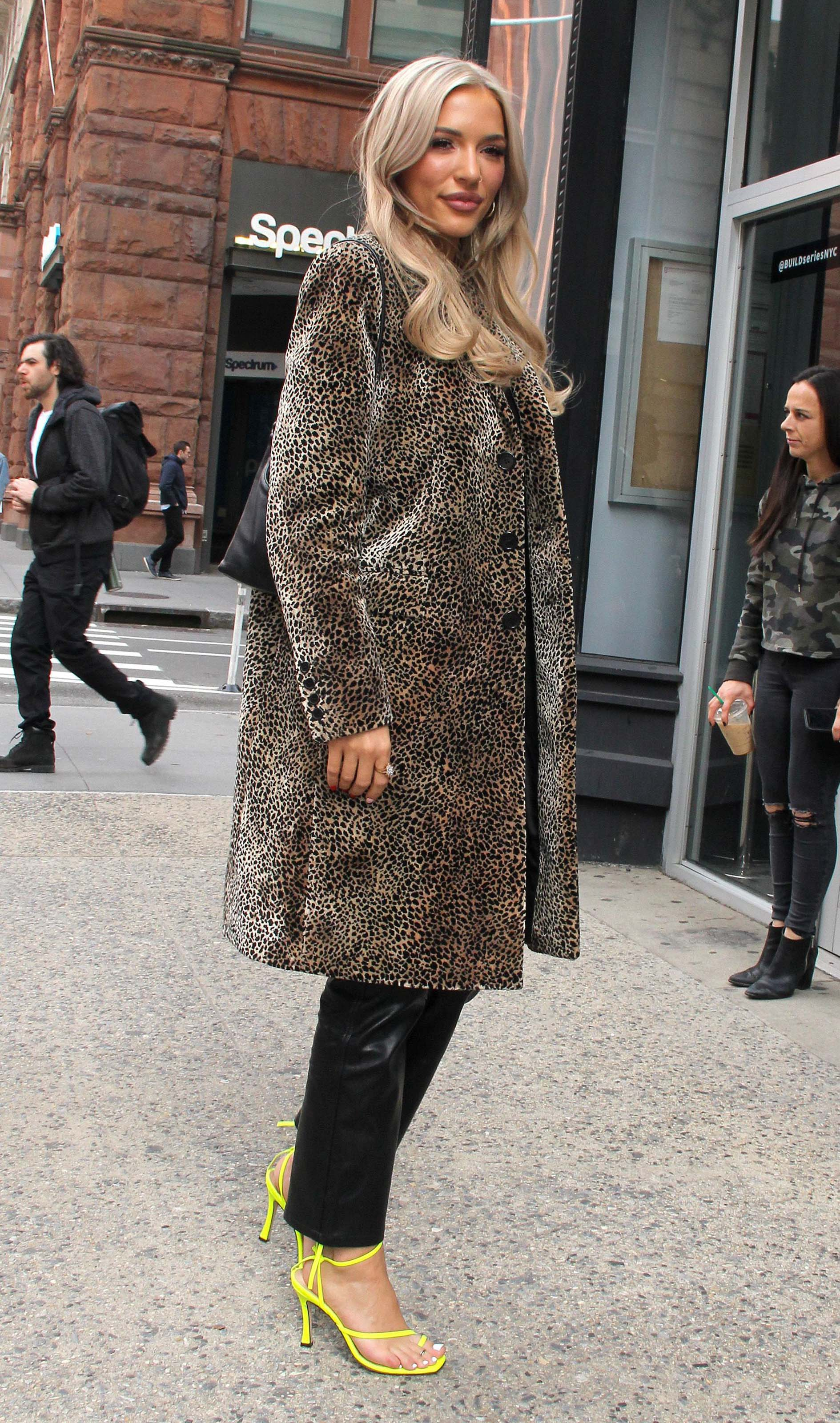 Lennon Stella arrives at the Build Series