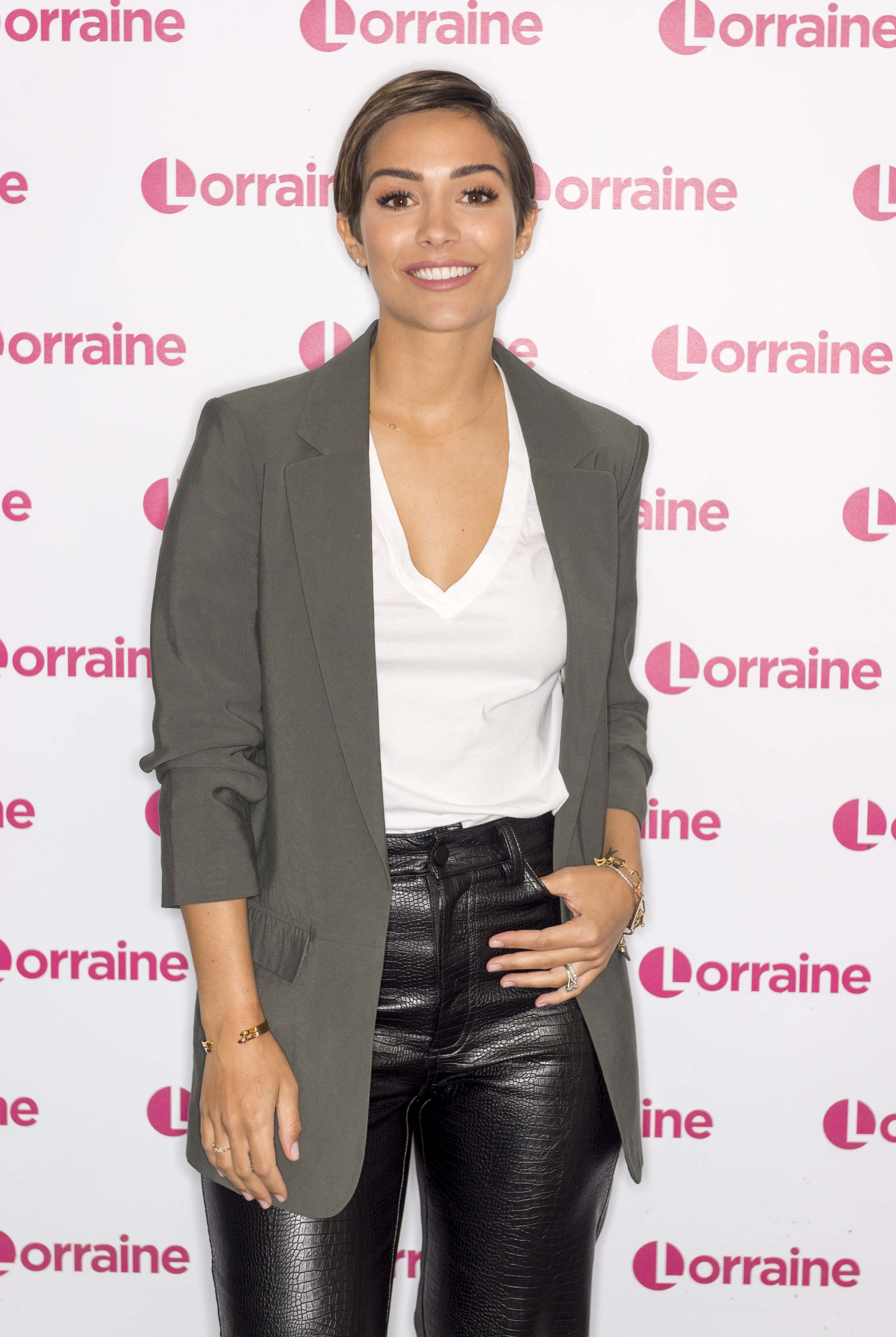 Frankie Bridge at Lorraine TV Show in London 5th March 2020