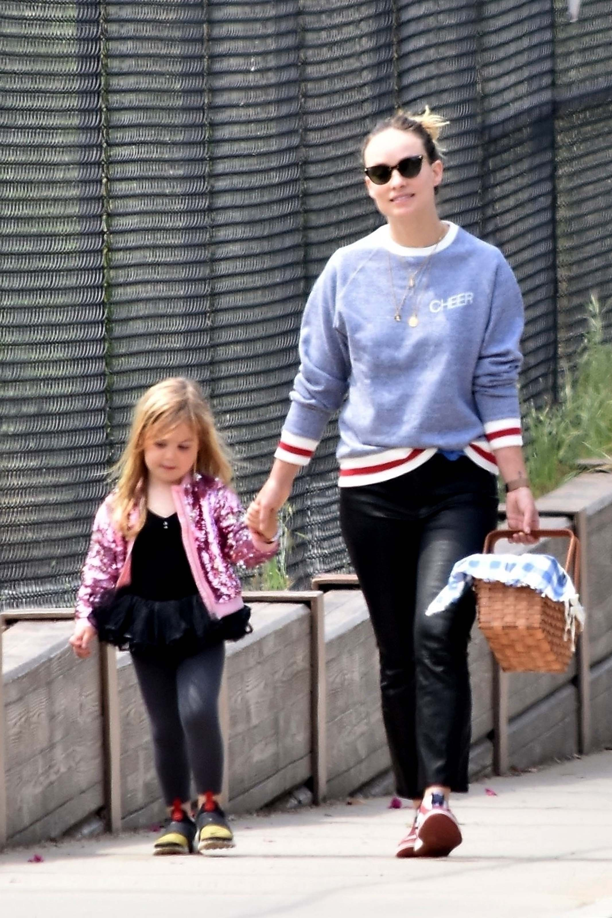 Olivia Wilde makes a trip to the park