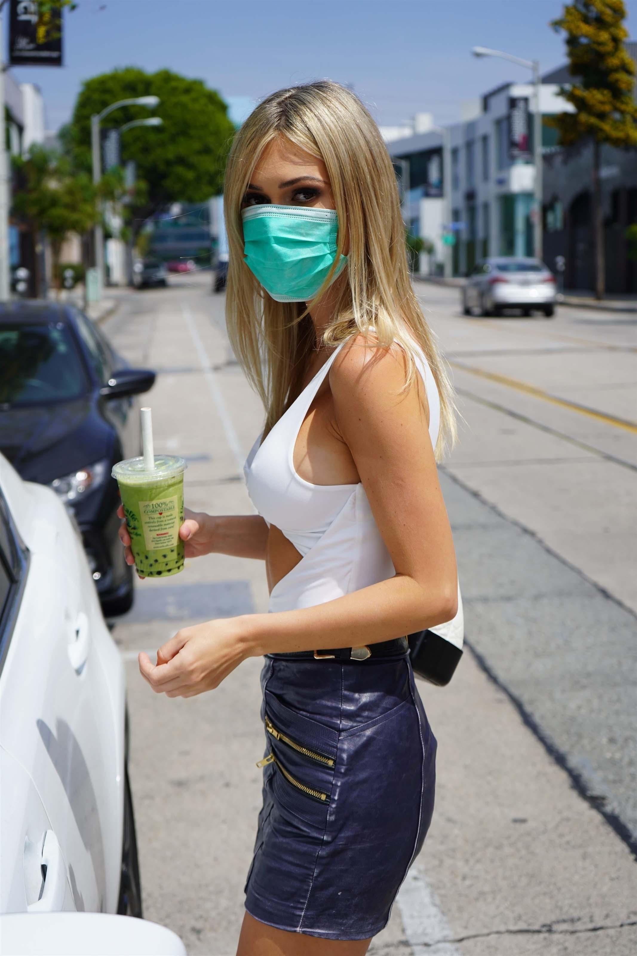 Ella Rose outside Starbucks in Beverly Hills