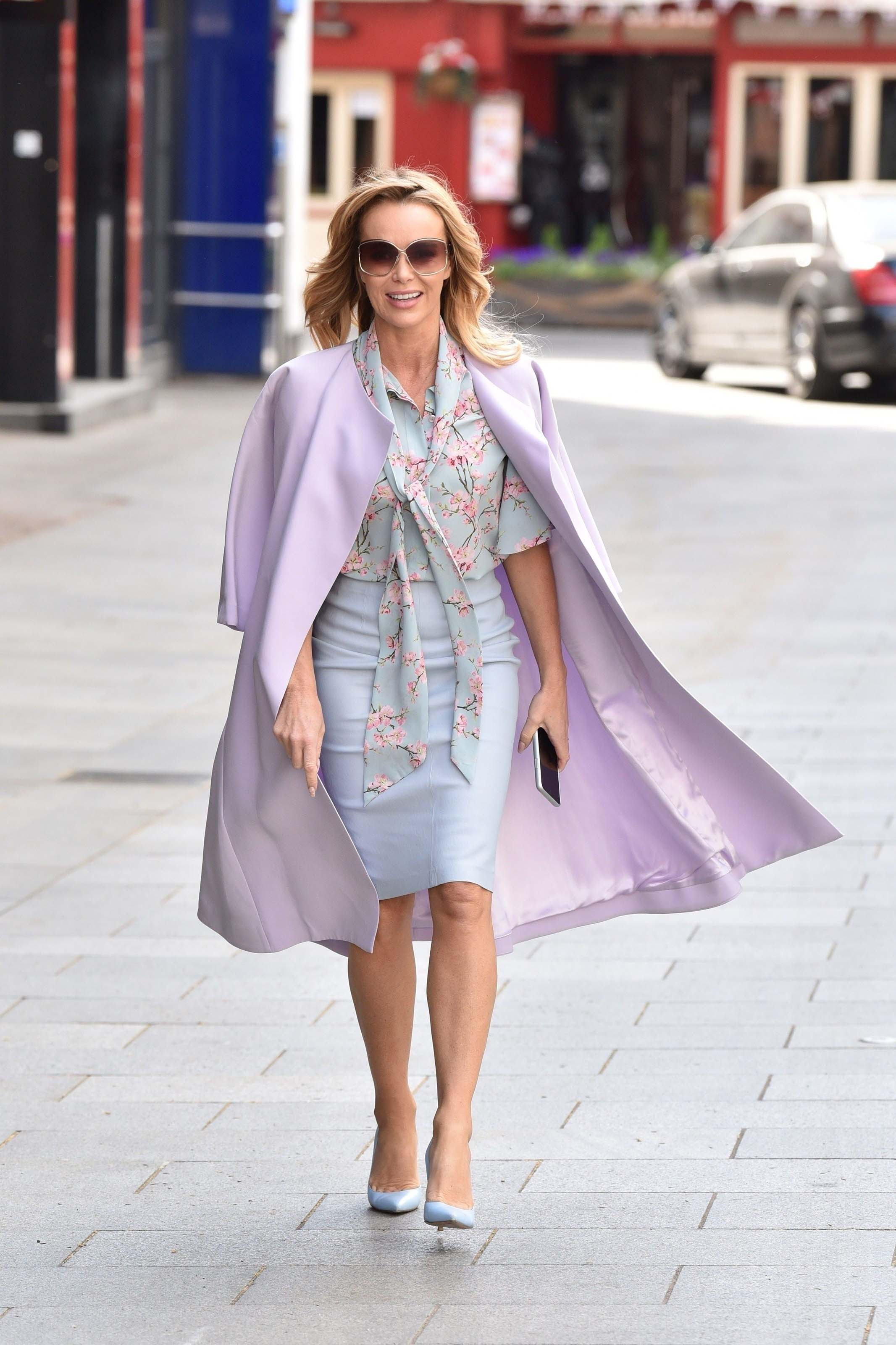 Amanda Holden seen leaving the Global studios after the Heart radio Breakfast show