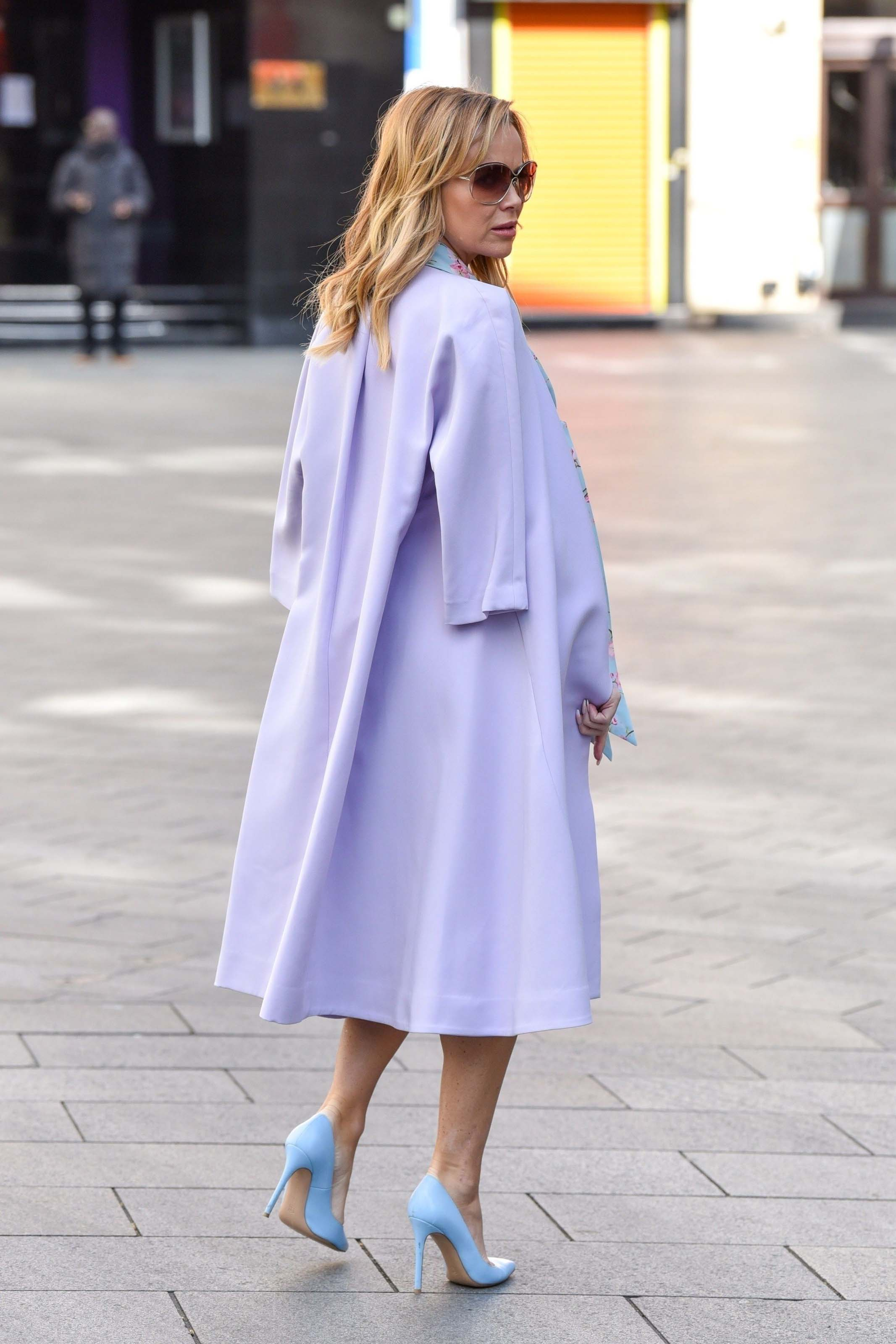 Amanda Holden seen leaving the Global studios after the Heart radio Breakfast show