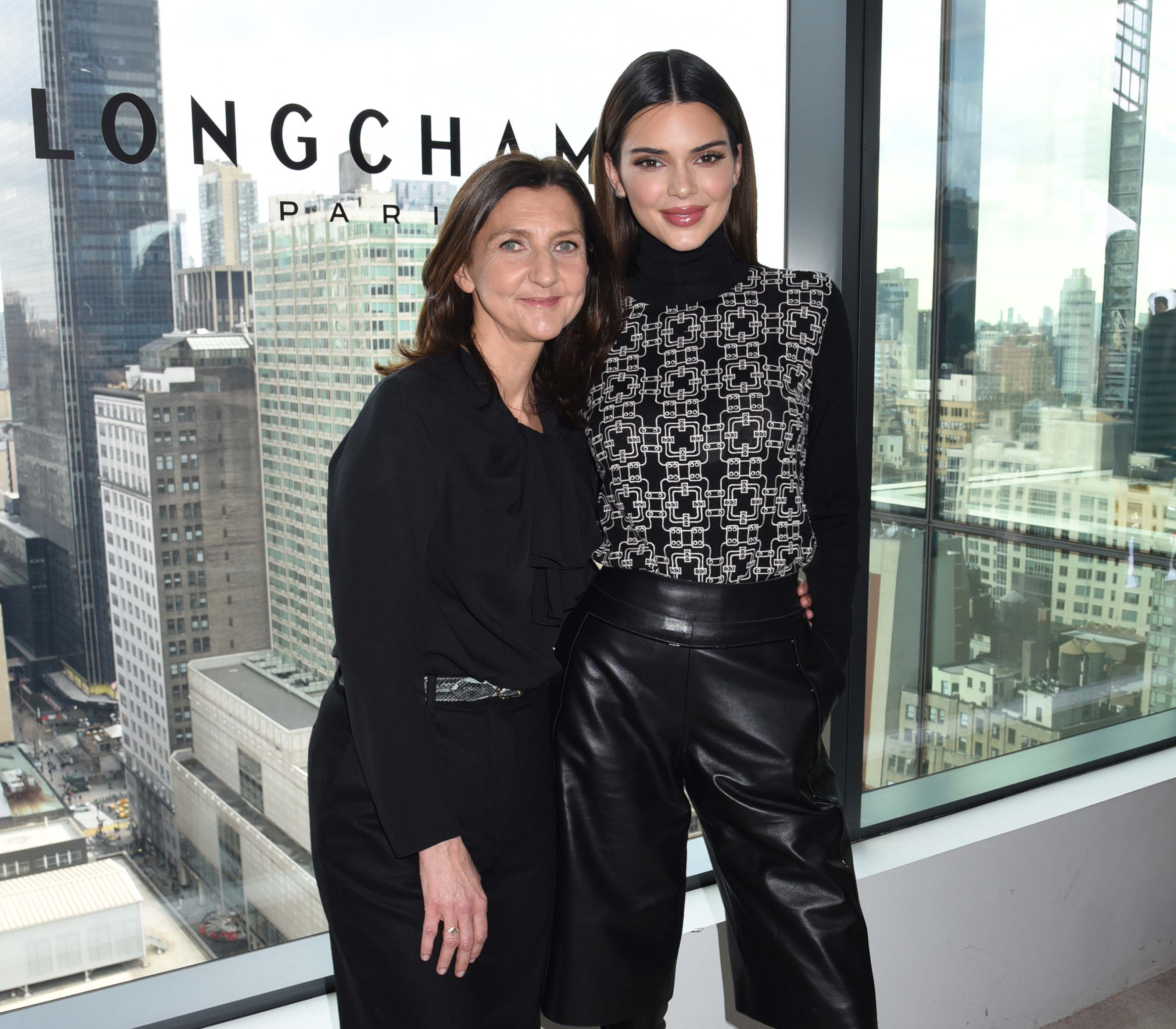 Kendall Jenner attends the LONGCHAMP Fall/Winter 2020 Runway Show