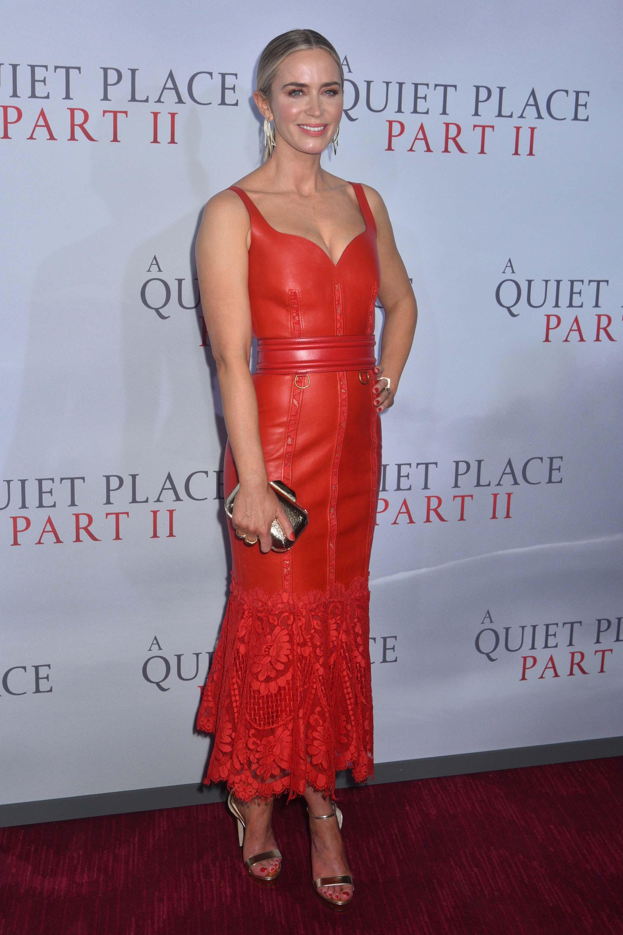Emily Blunt attends A Quiet Place Part II premiere
