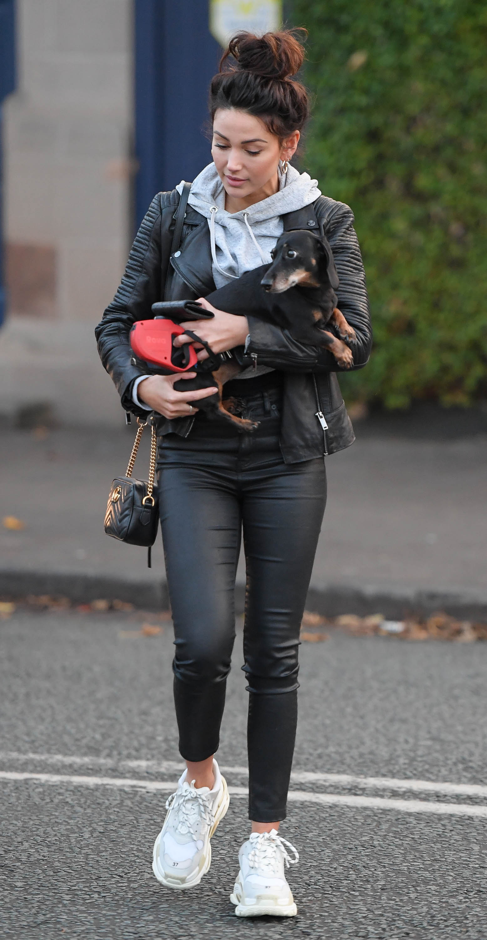 Michelle Keegan out in Hale Cheshire