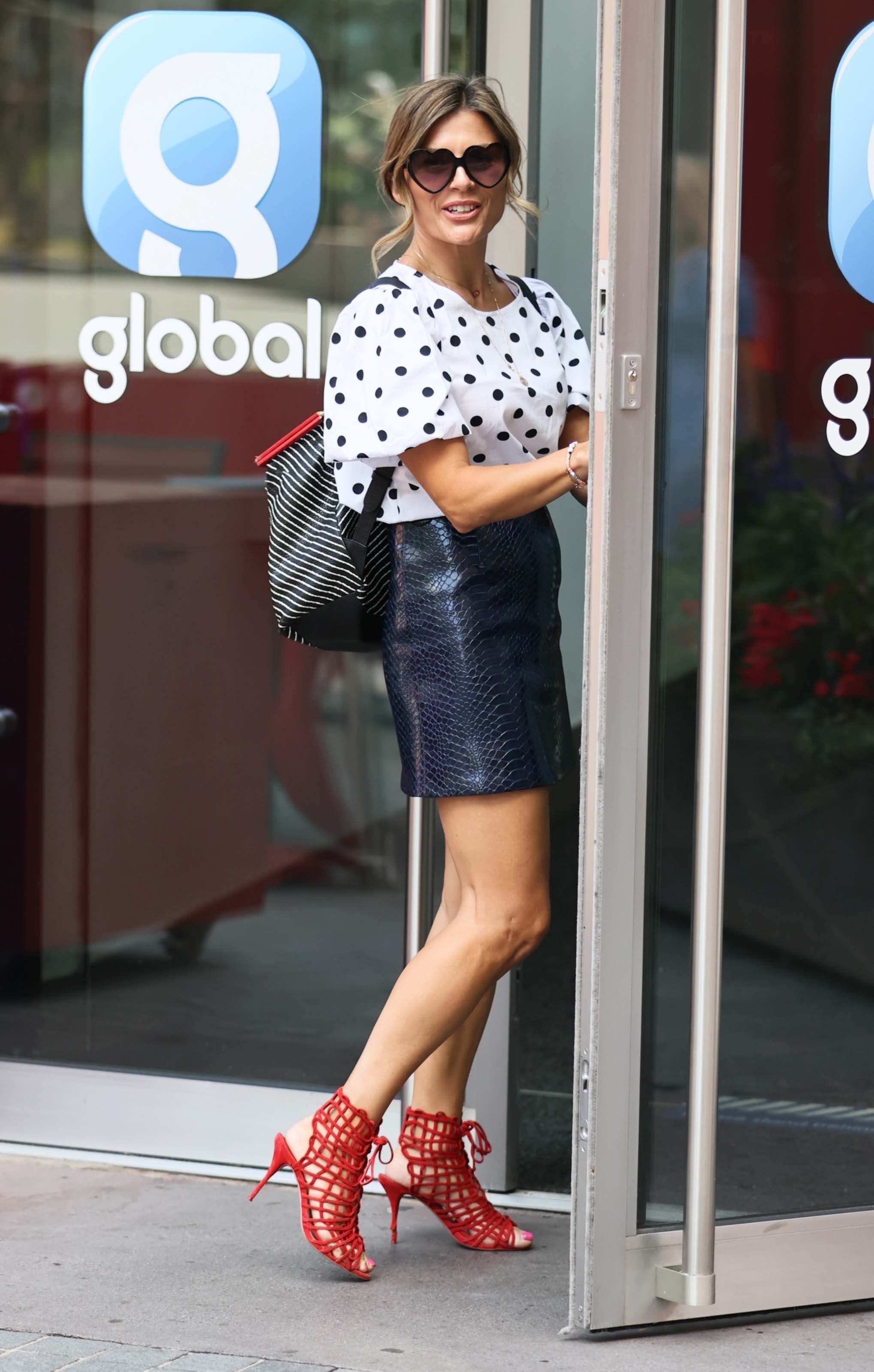 Zoe Hardman seen at Global Radio Studios