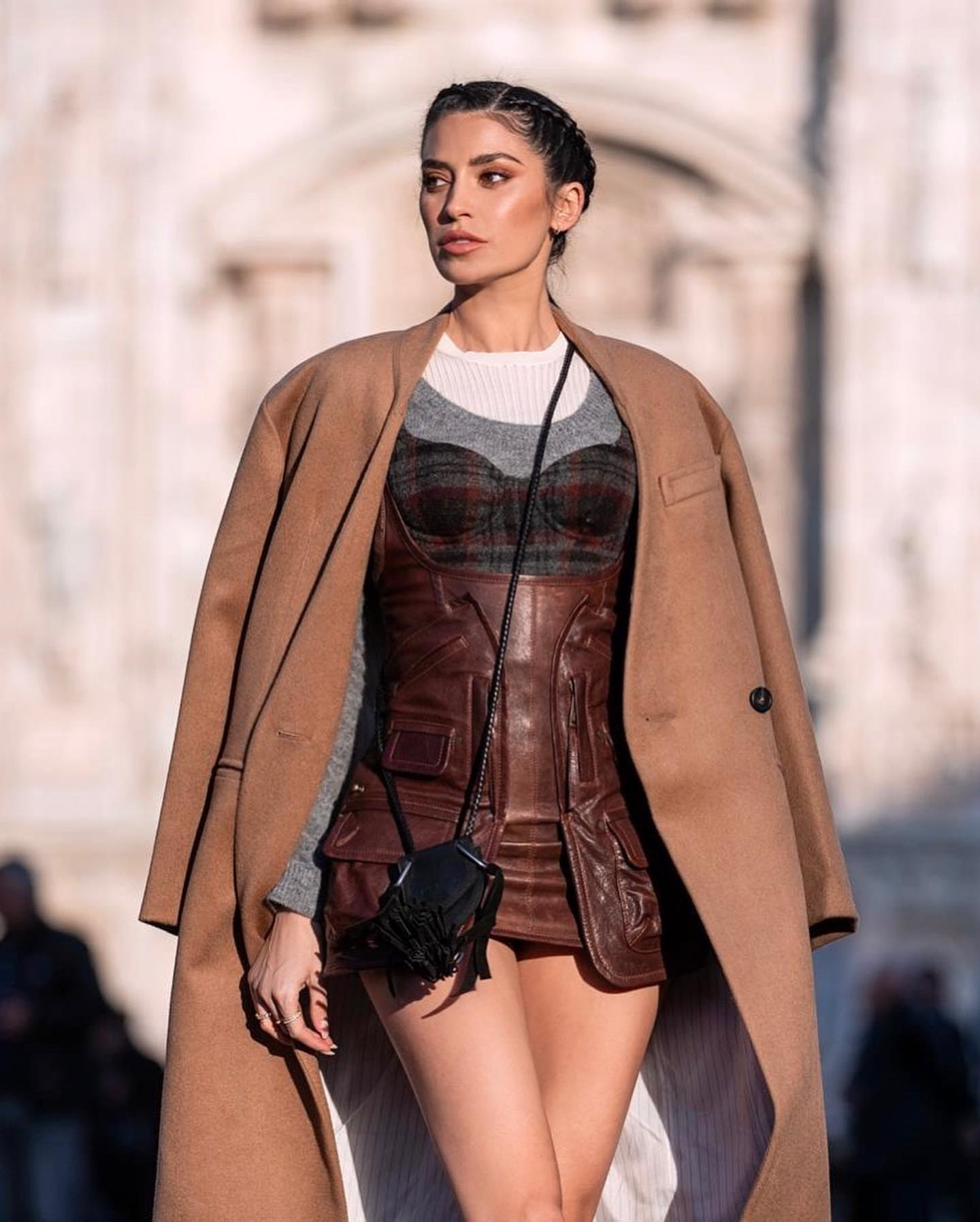 Nicole Williams Instagram leather outfits
