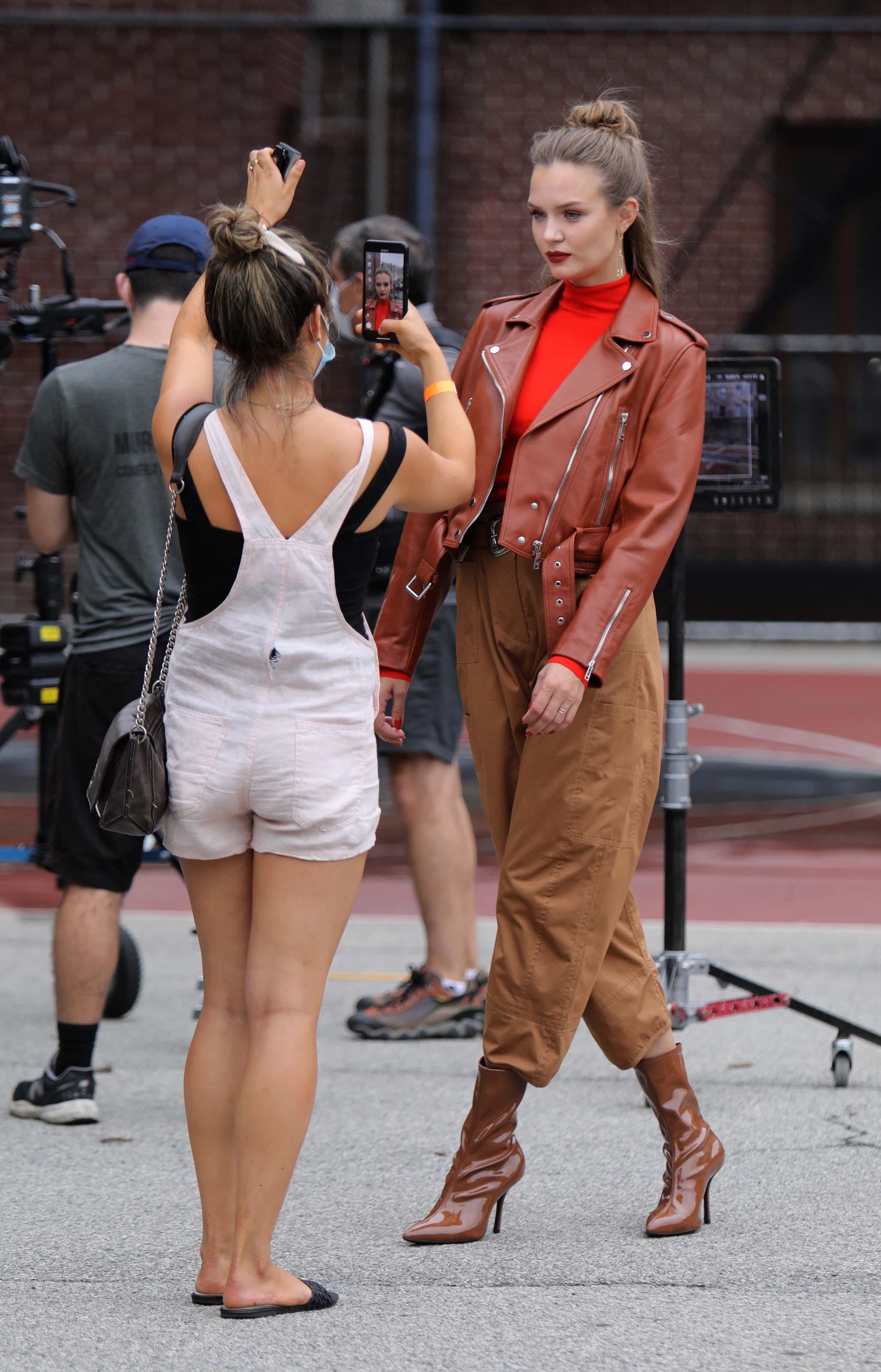 Josephine Skriver doing a Maybelline photoshoot
