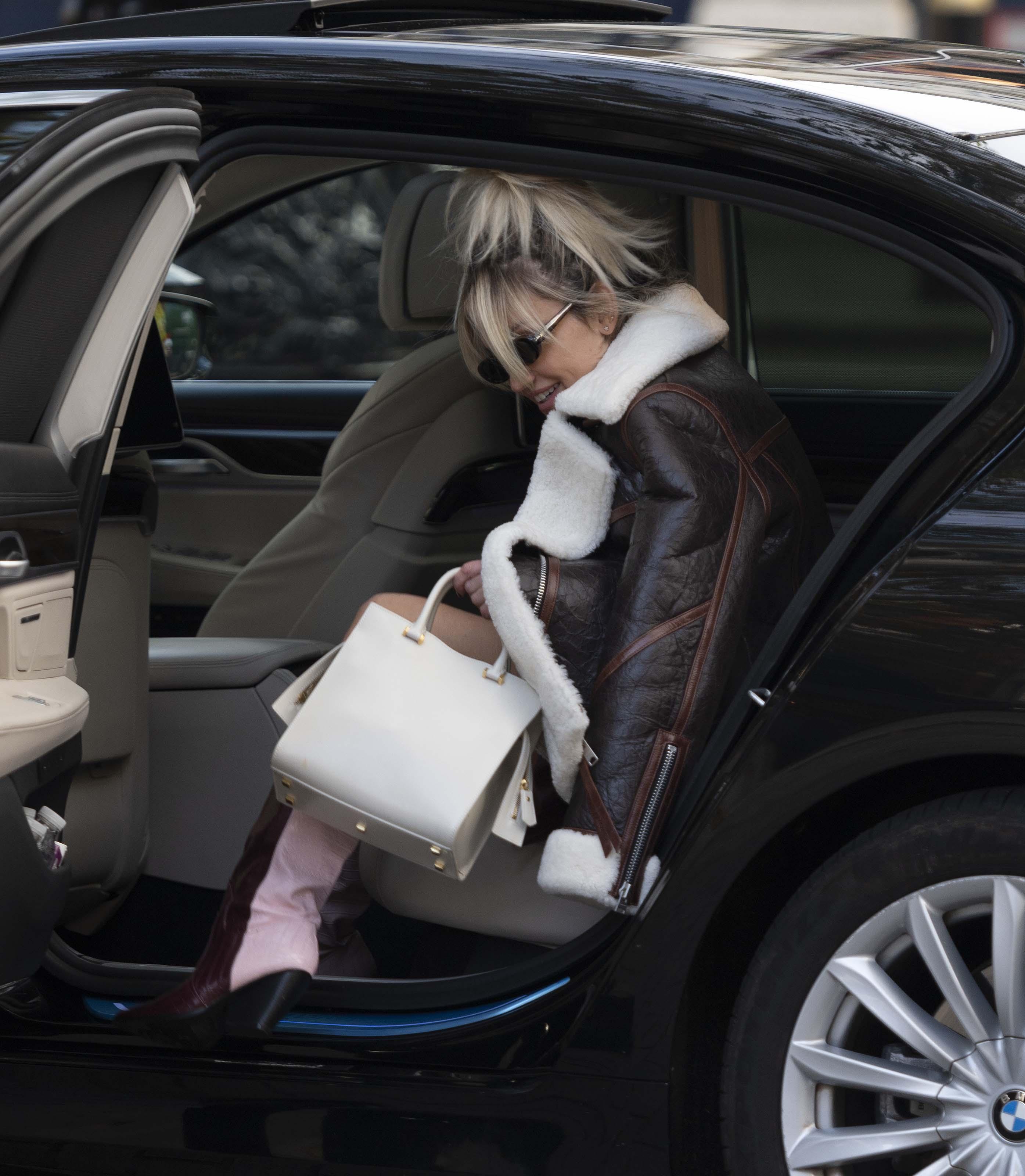 Ashley Roberts seen at Global studios