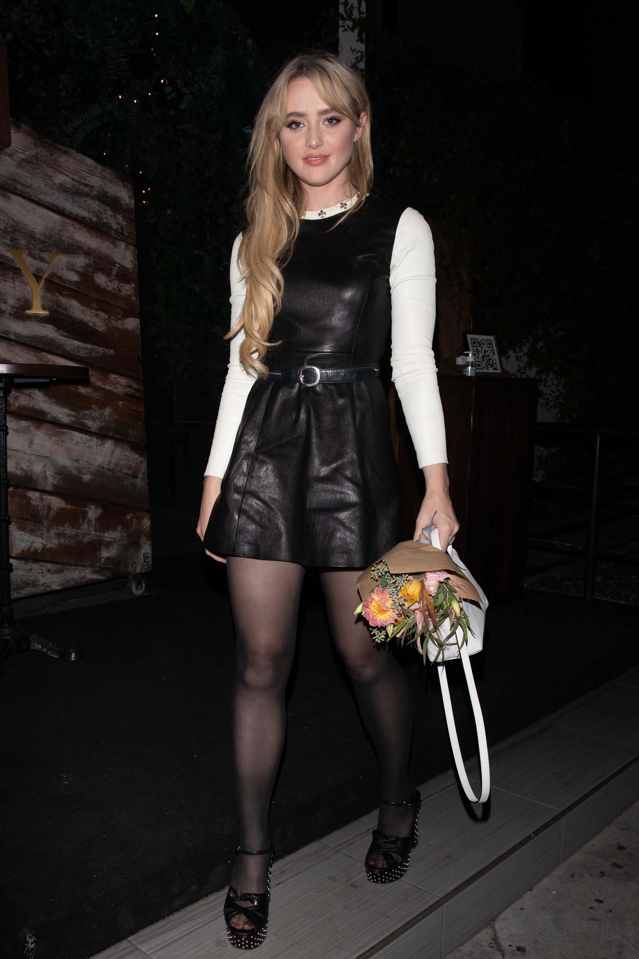 Kathryn Newton seen at a dinner in Los Angeles