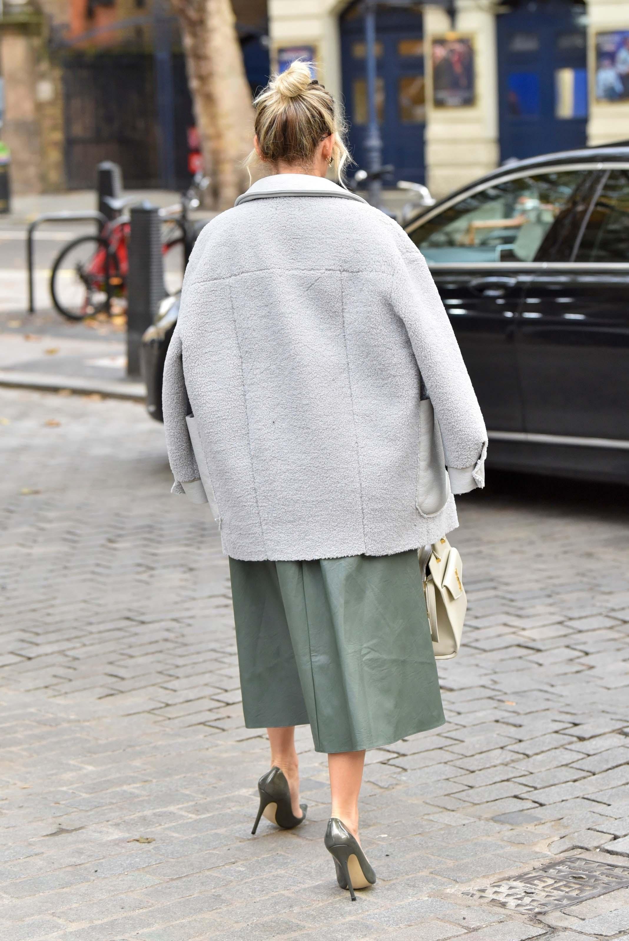 Ashley Roberts leaving the Global studios in London
