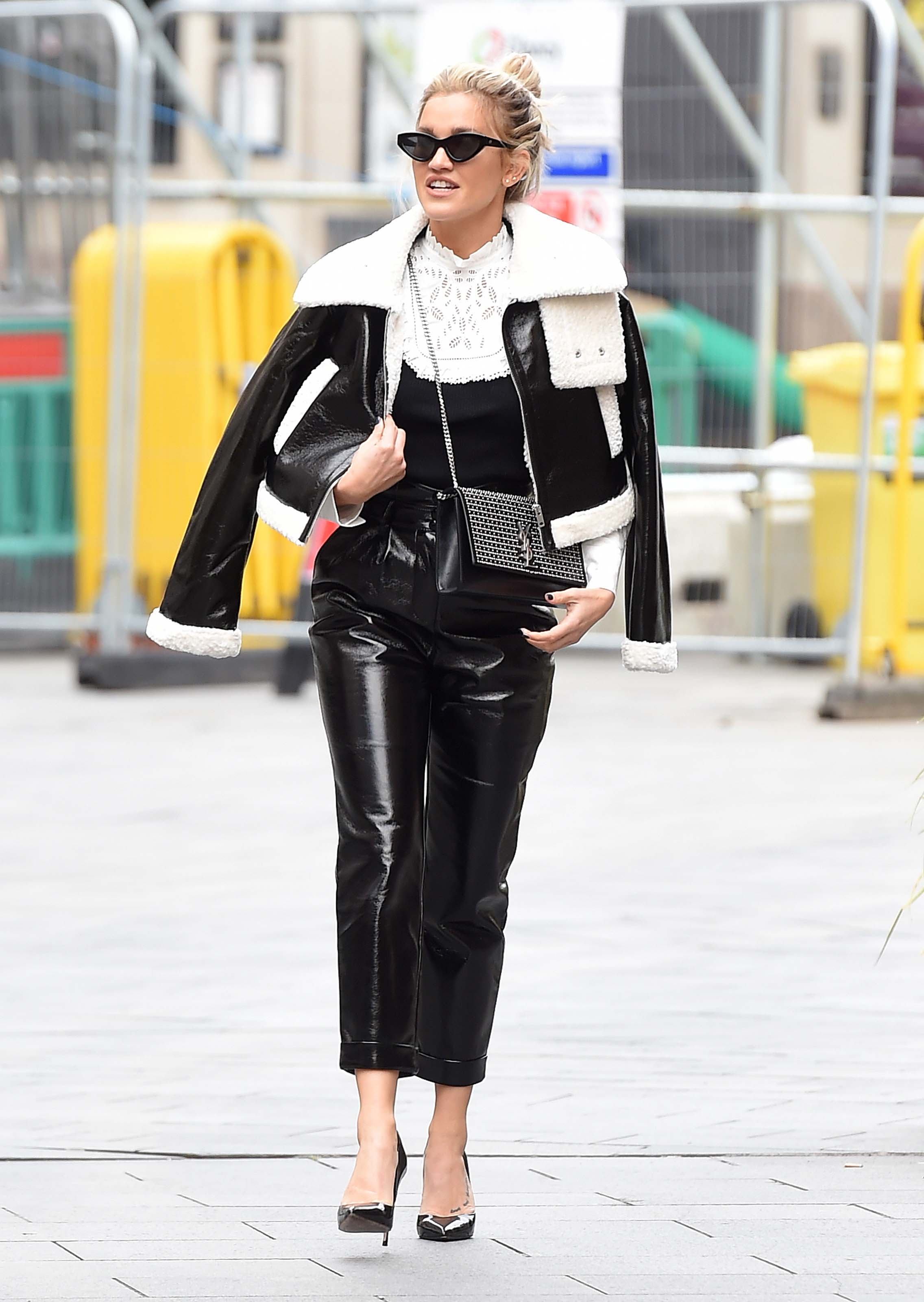 Ashley Roberts seen at Global studios after the Heart Radio Breakfast show in London