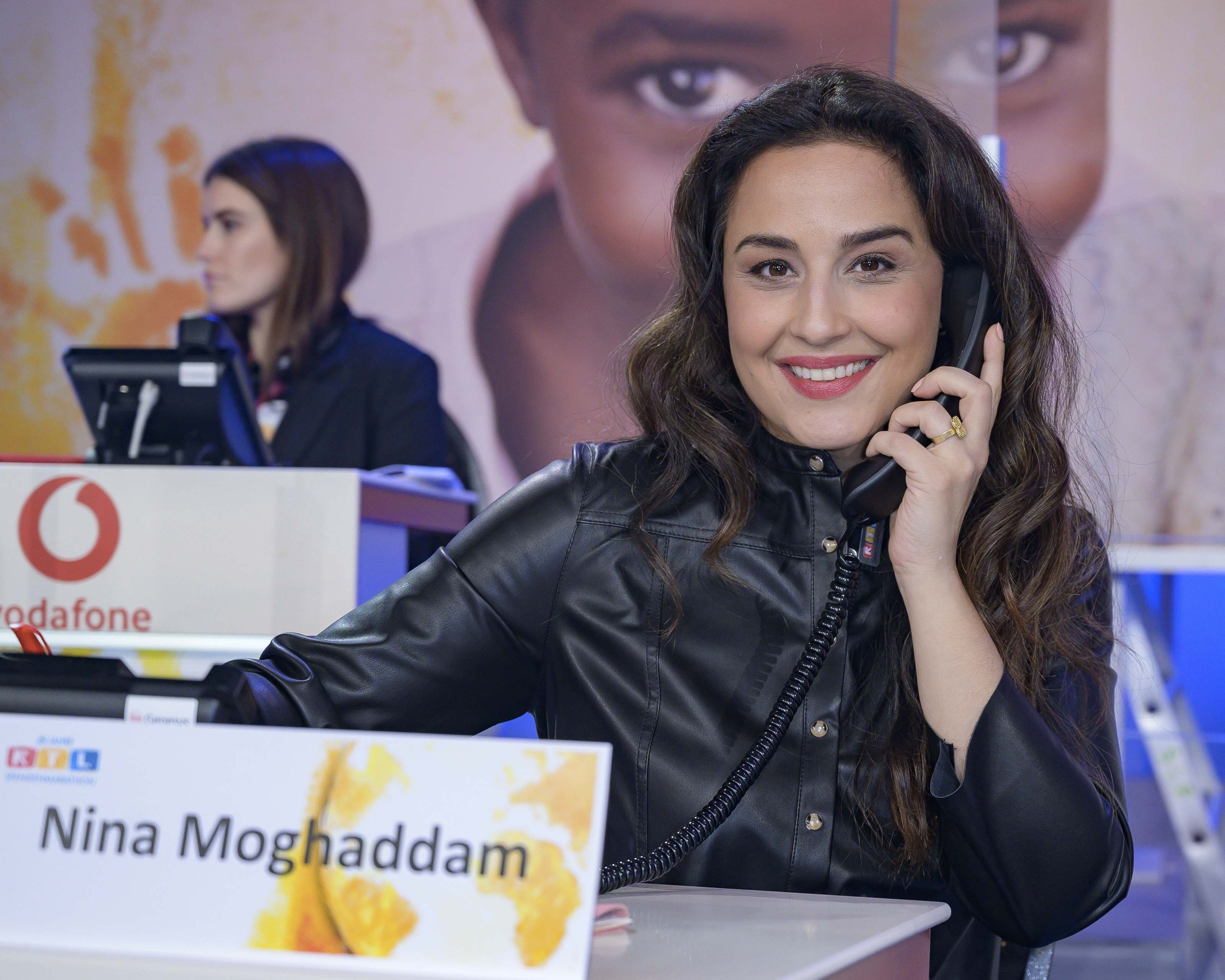 Nina Moghaddam seen at RTL Spendenmarathon
