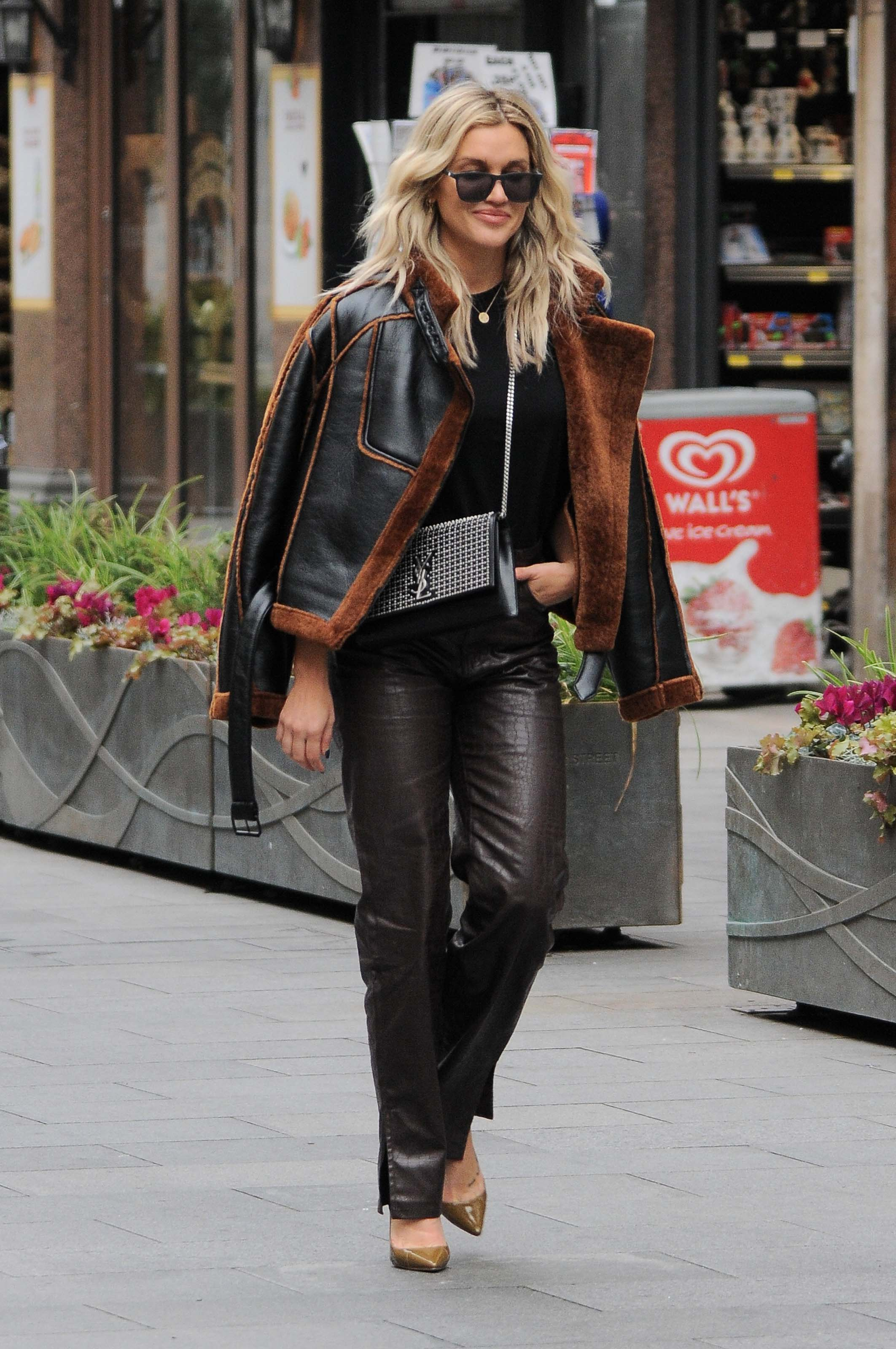 Ashley Roberts seen at Global Radio Studios in London