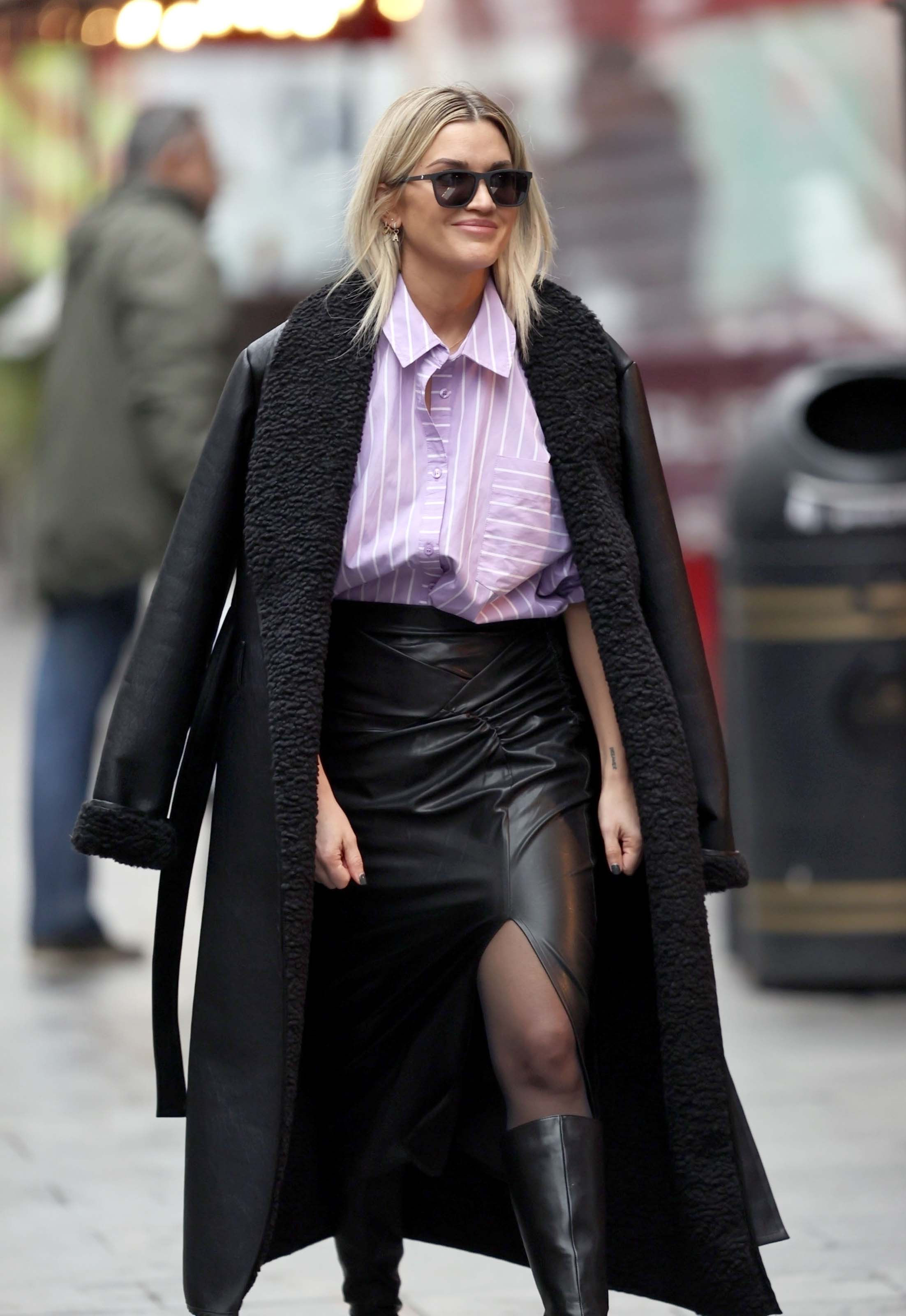 Ashley Roberts seen at Heart Radio Studios in London