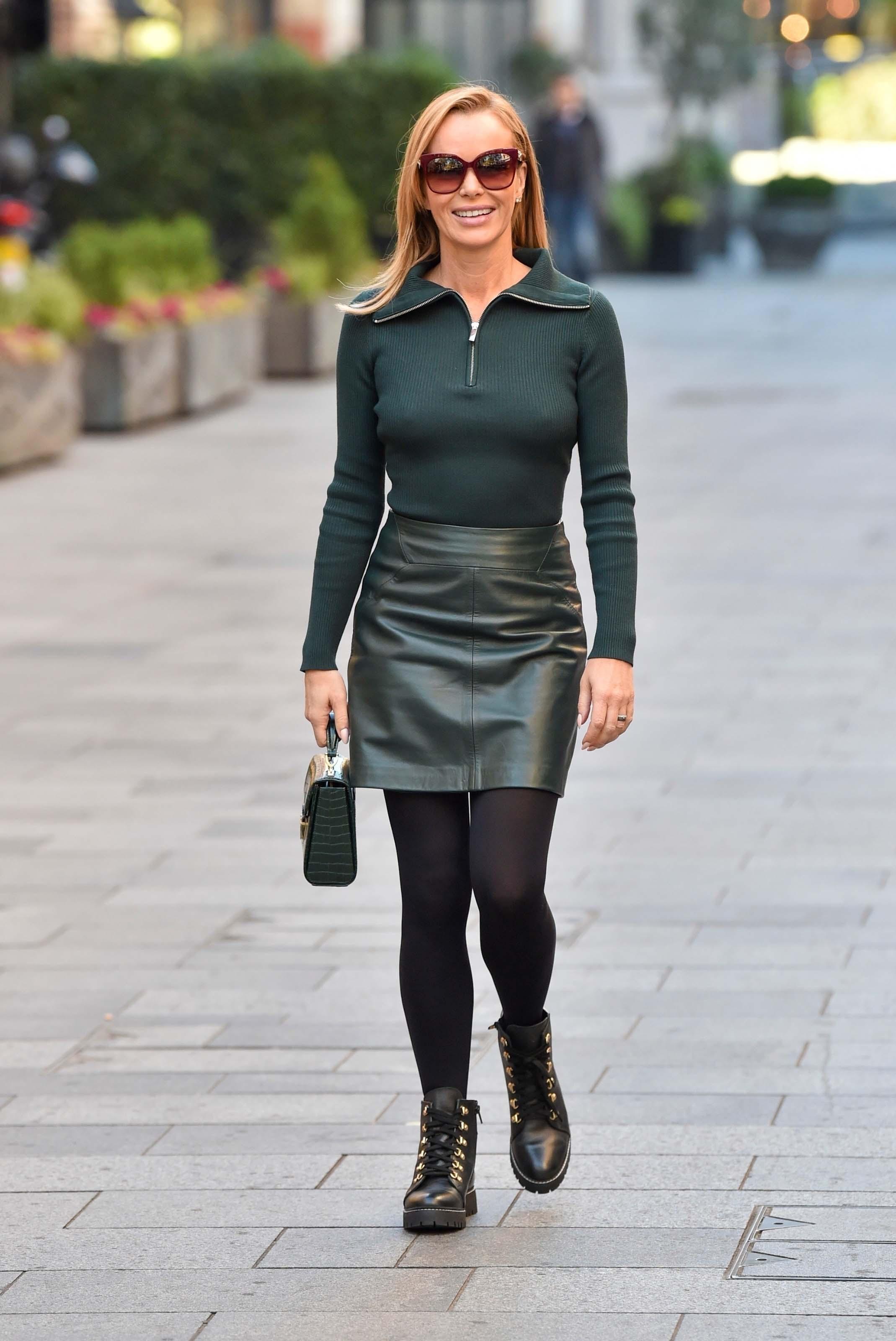 Amanda Holden leaving the Global studios in London