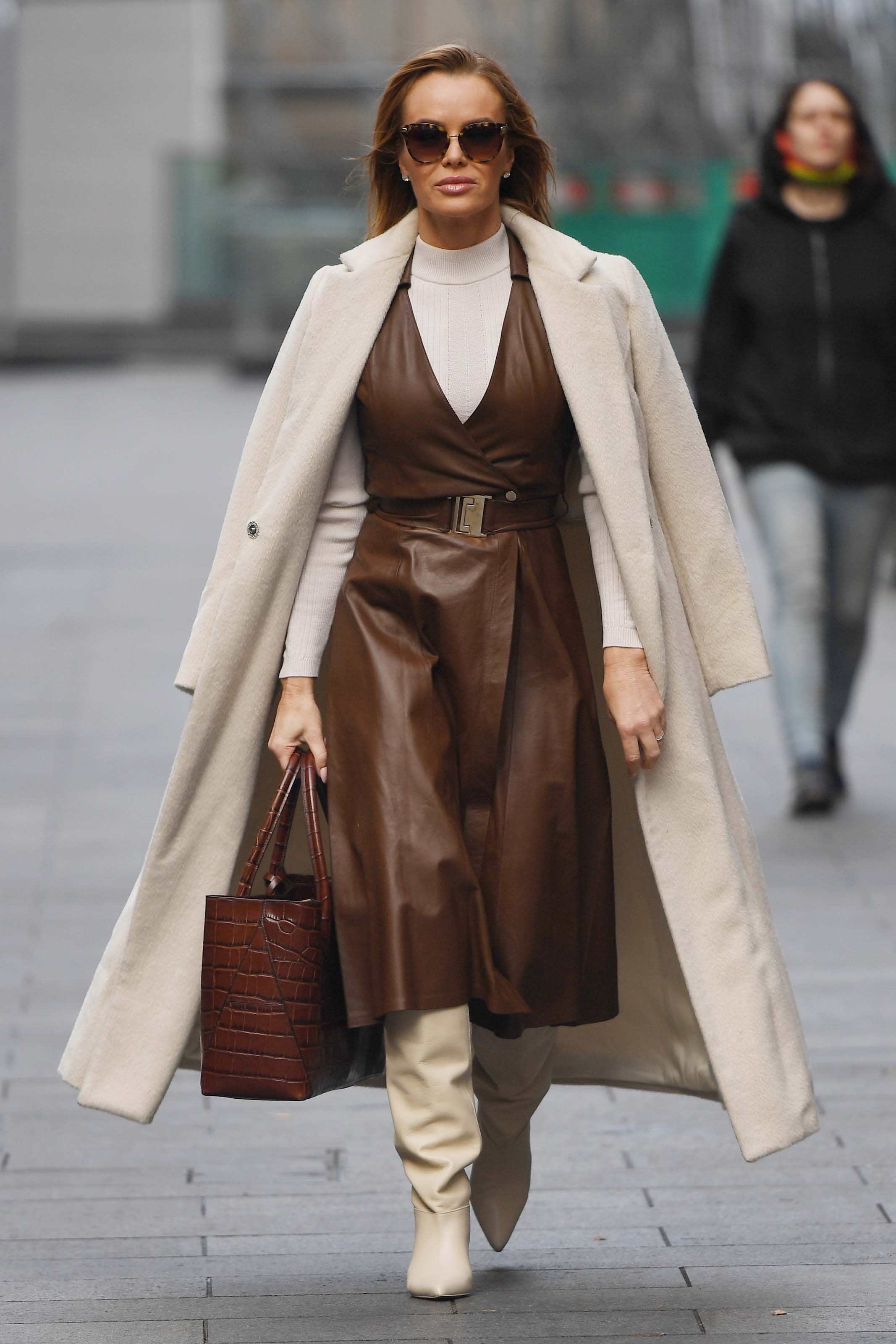 Amanda Holden seen at Global studios after the Heart Breakfast show in London