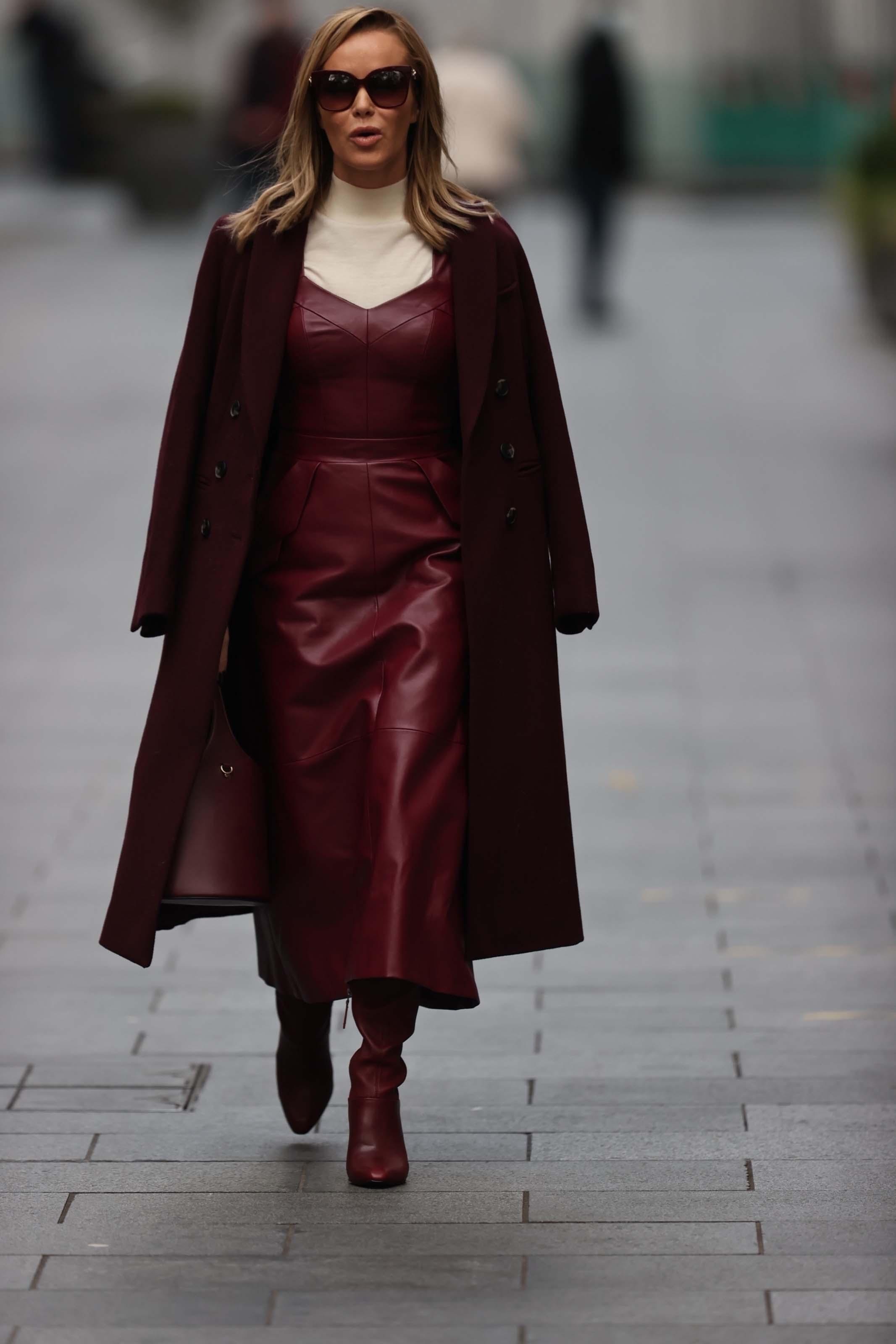 Amanda Holden seen at Global Radio Studios in London