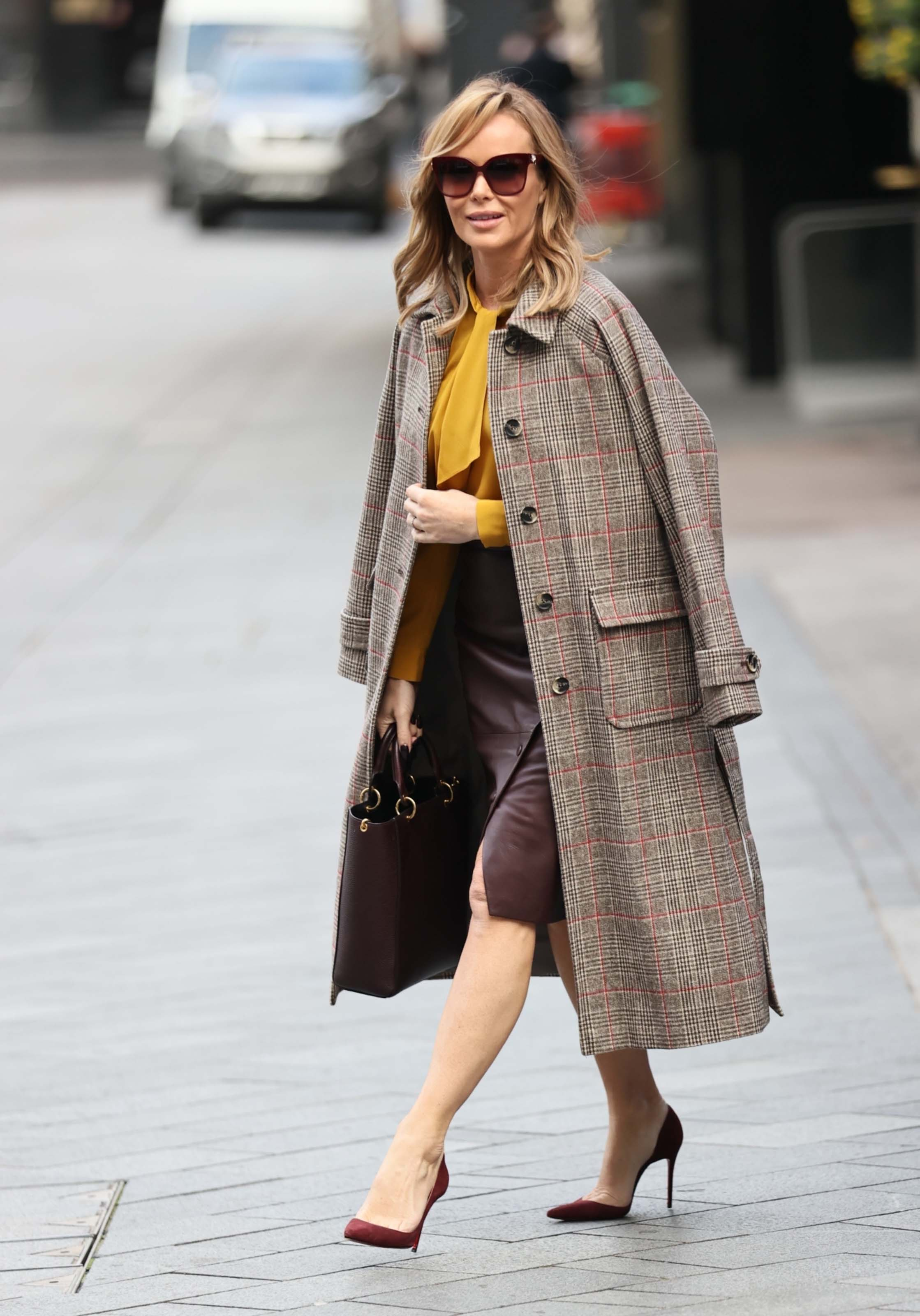 Amanda Holden seen at Global Radio Studios in London