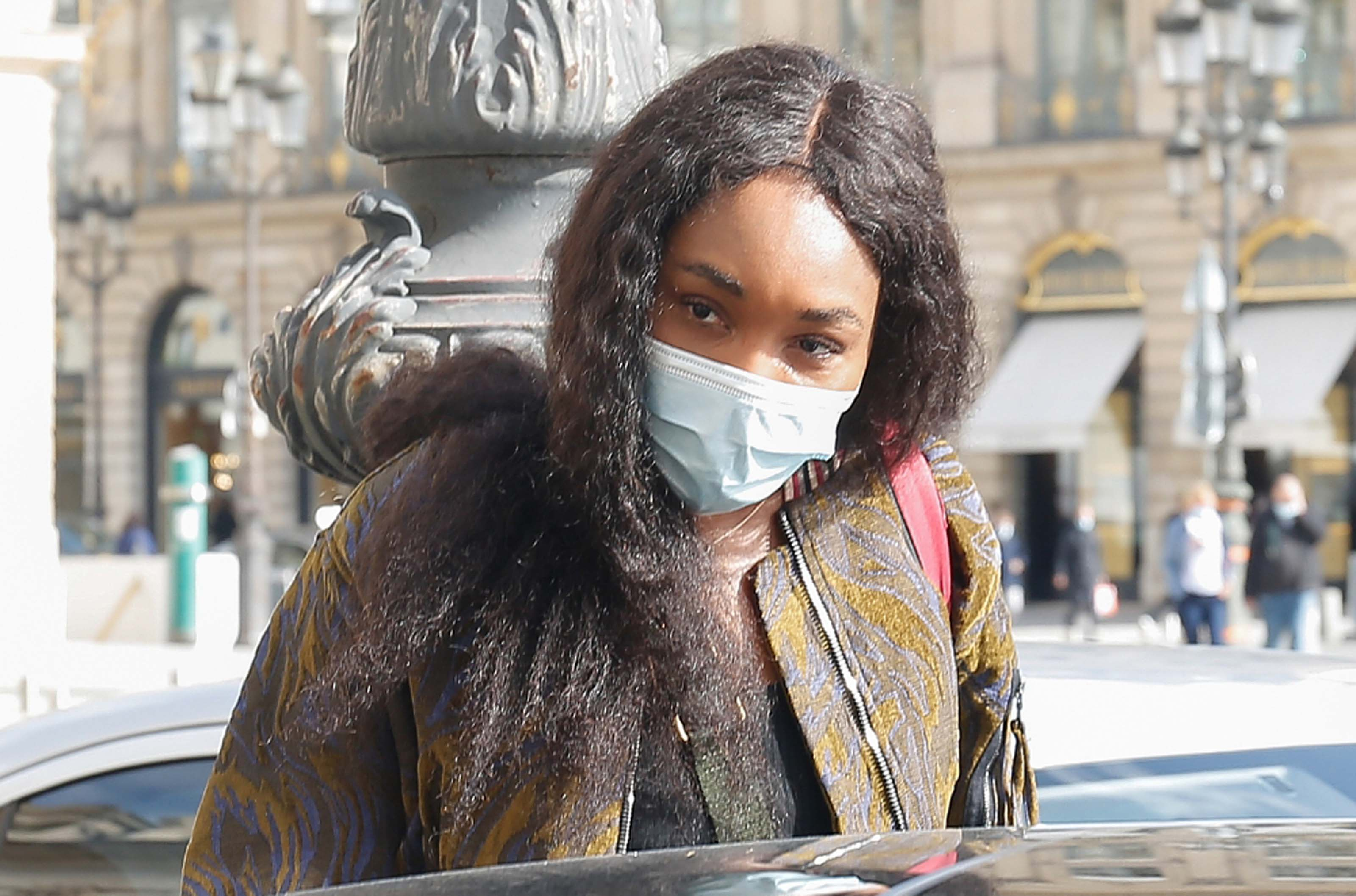 Venus Williams leaving her hotel after the Paris Fashion Week 2020