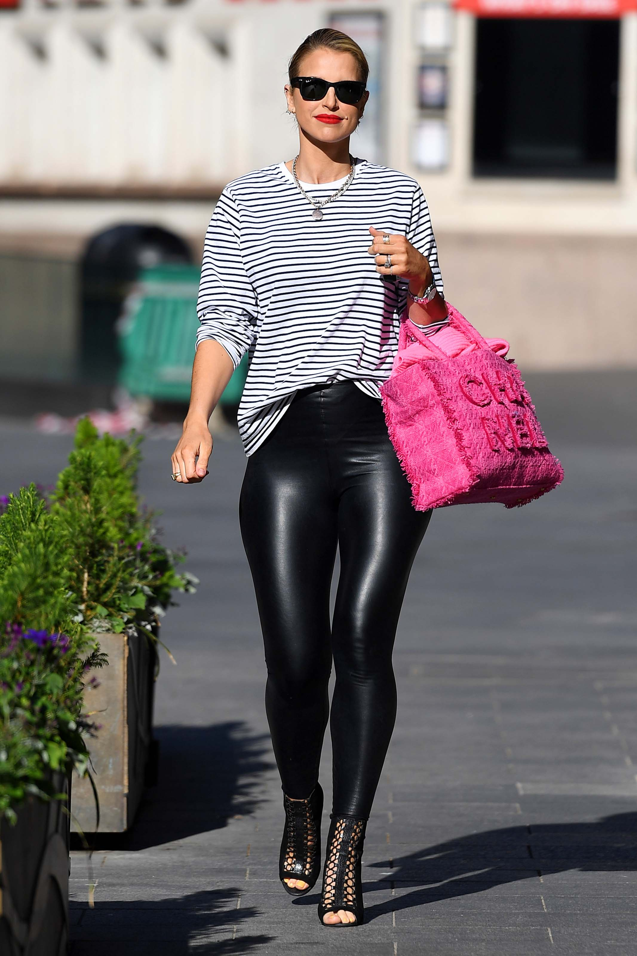 Vogue Williams seen at Heart Radio, Global House in London