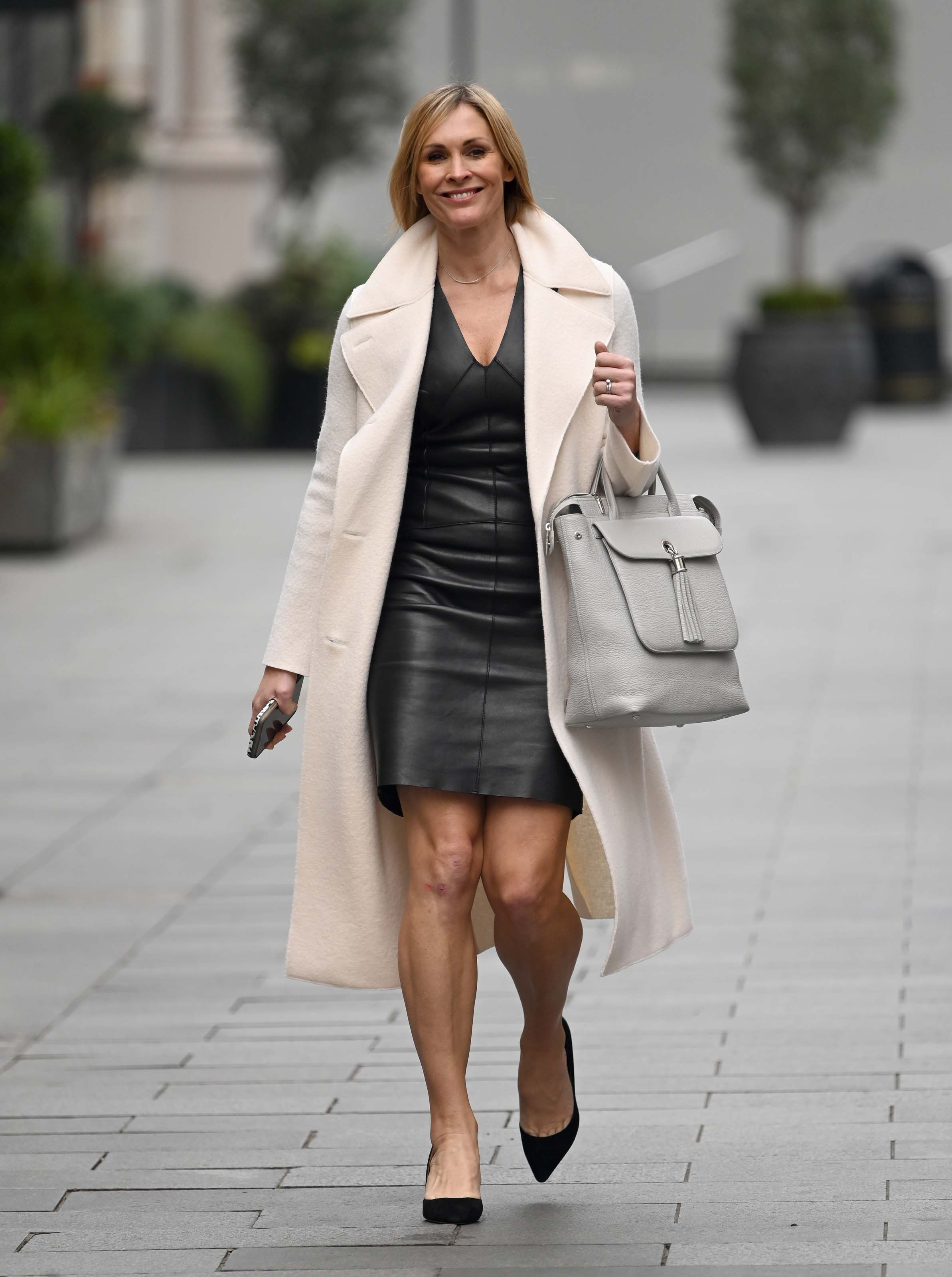 Jenni Falconer leaving Global Radio Studios in London