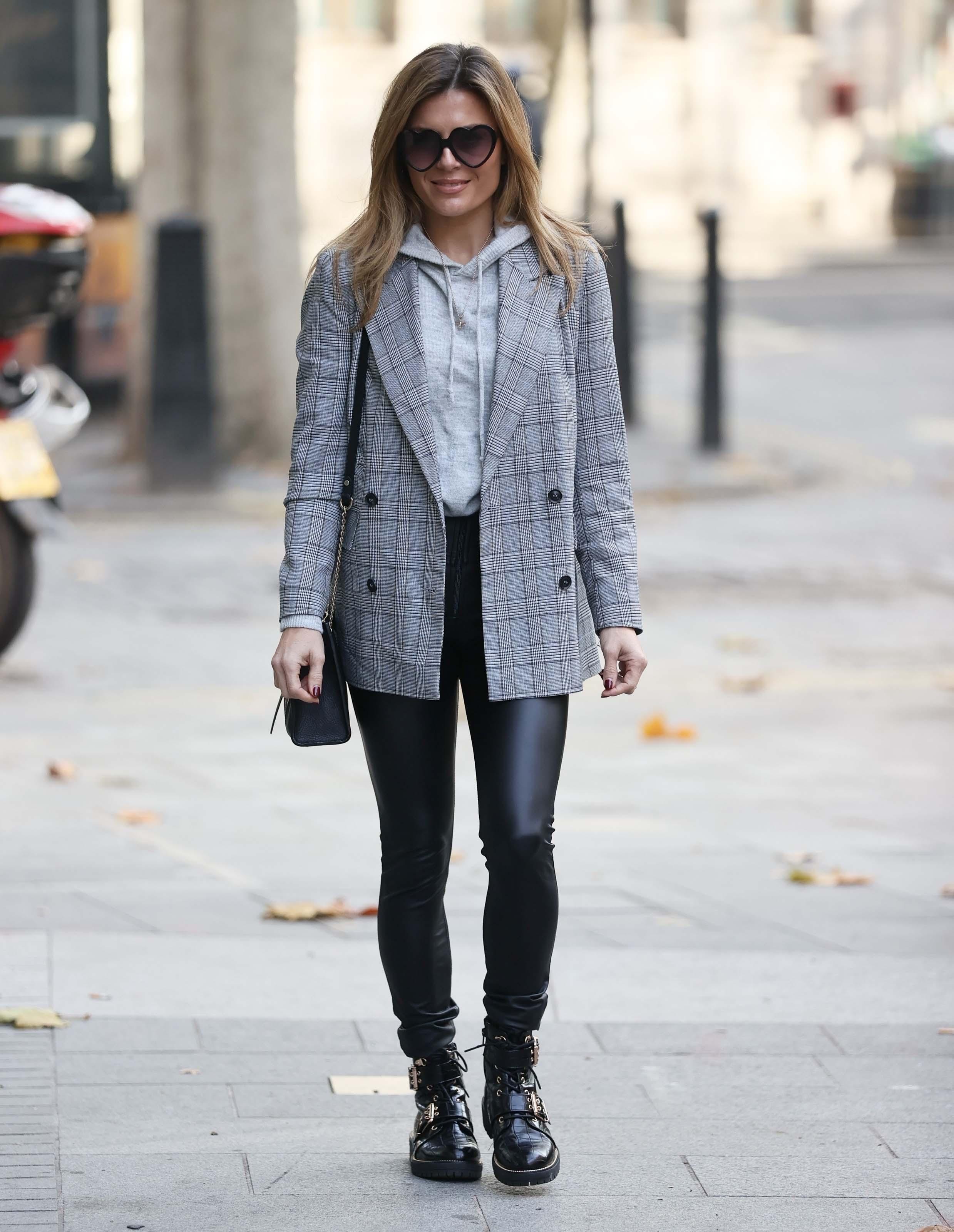 Zoe Hardman seen at Heart radio studios in London