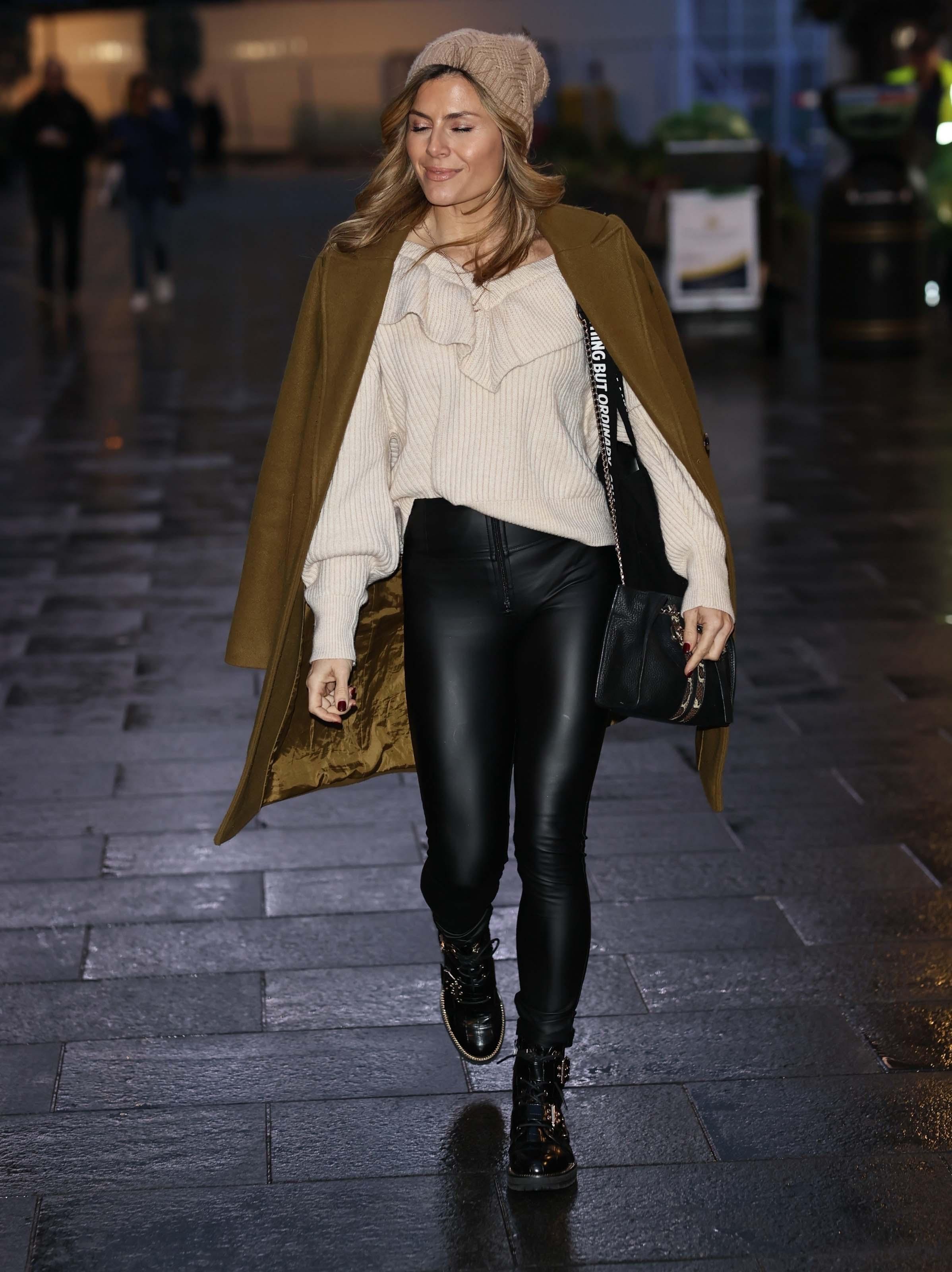 Zoe Hardman seen at Smooth radio in London