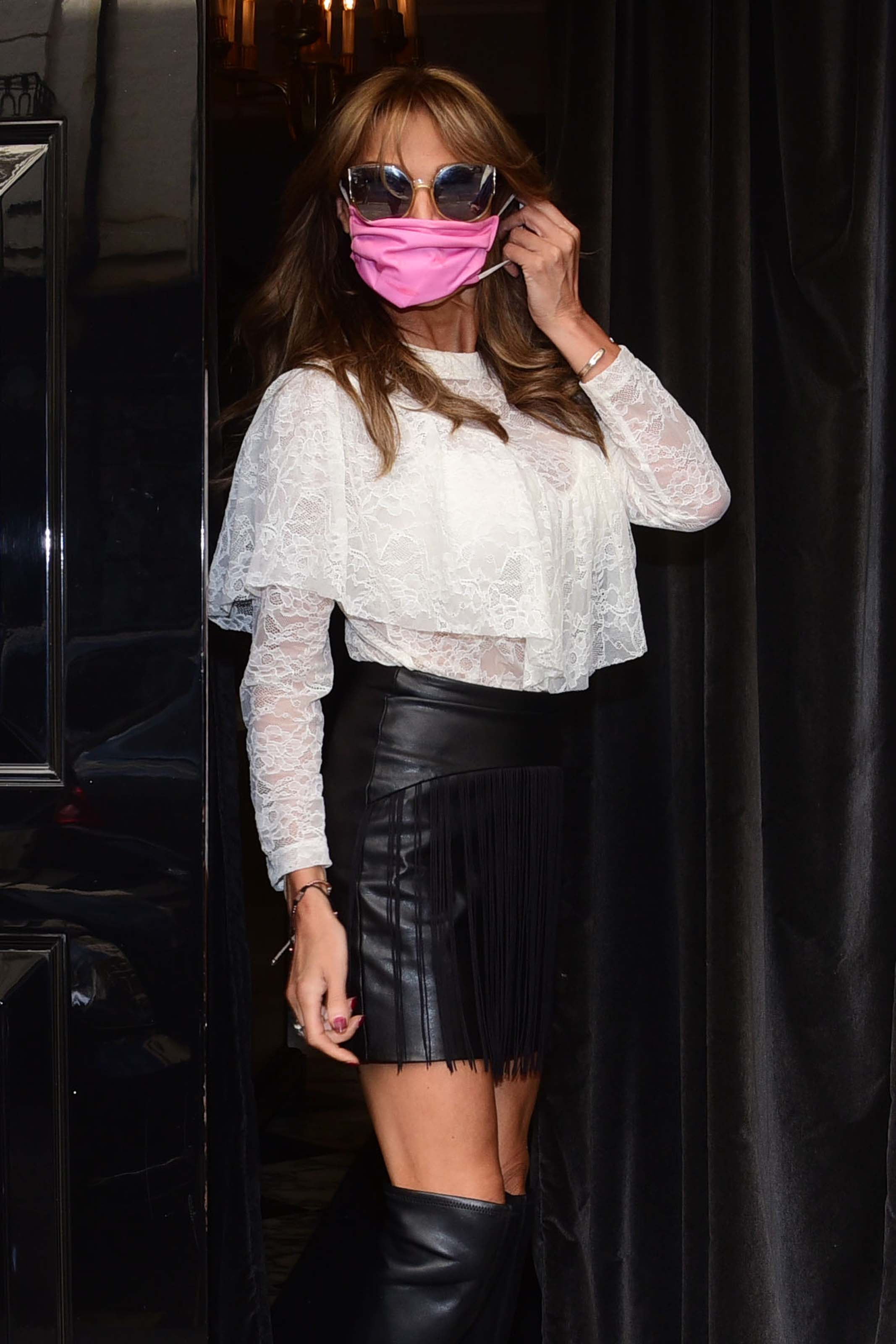 Lizzie Cundy seen at Arts Club in West London