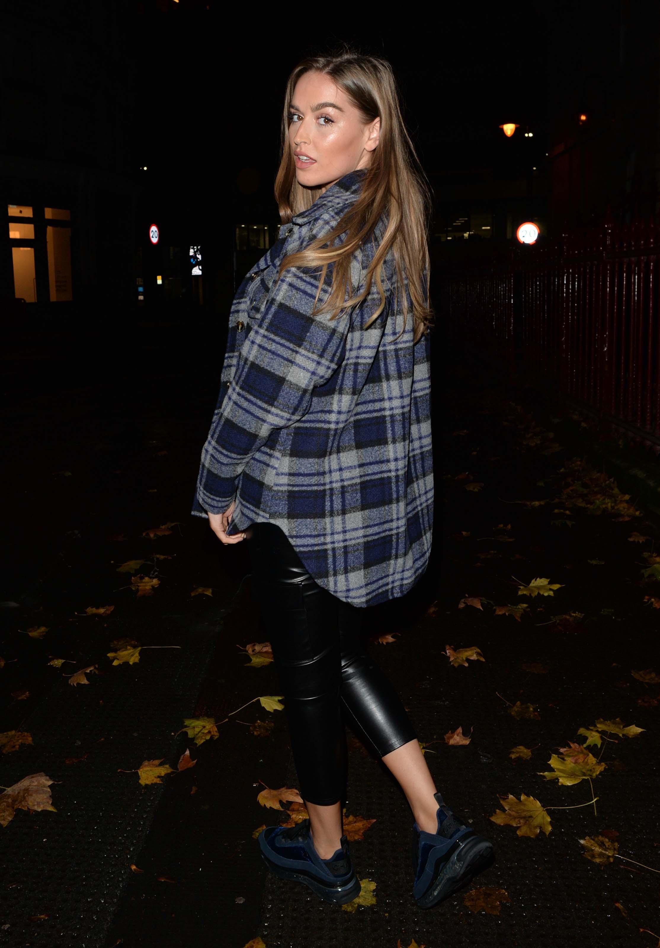 Chloe Ross out for dinner in London