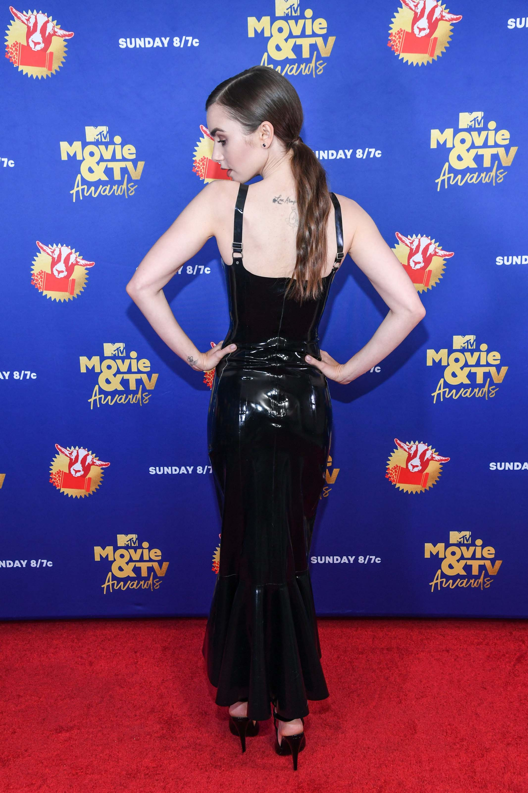 Lily Collins attends 2020 MTV Movie and TV Awards in LA