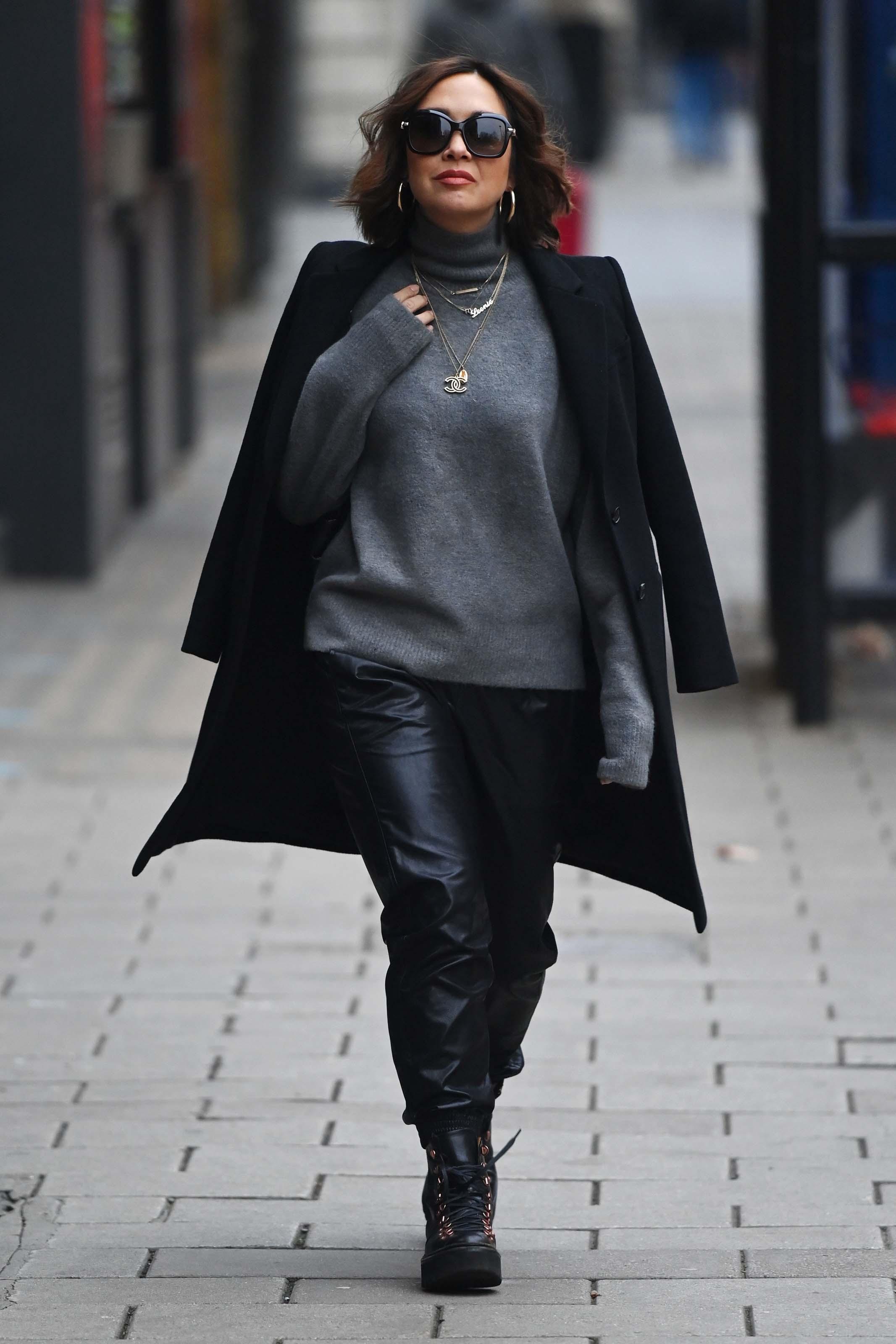 Myleene Klass seen at Global Radio Studios in London
