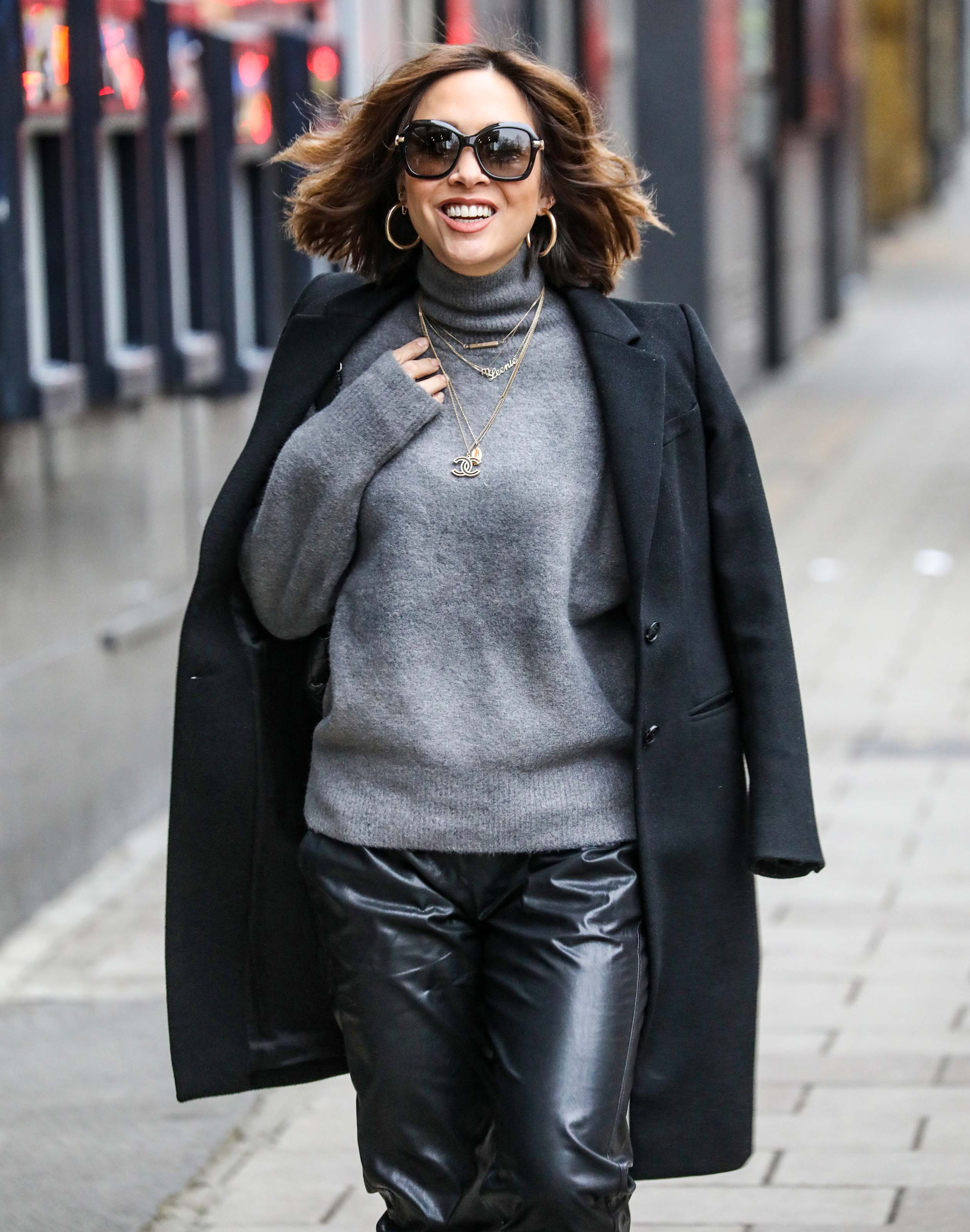 Myleene Klass seen at Global Radio Studios in London