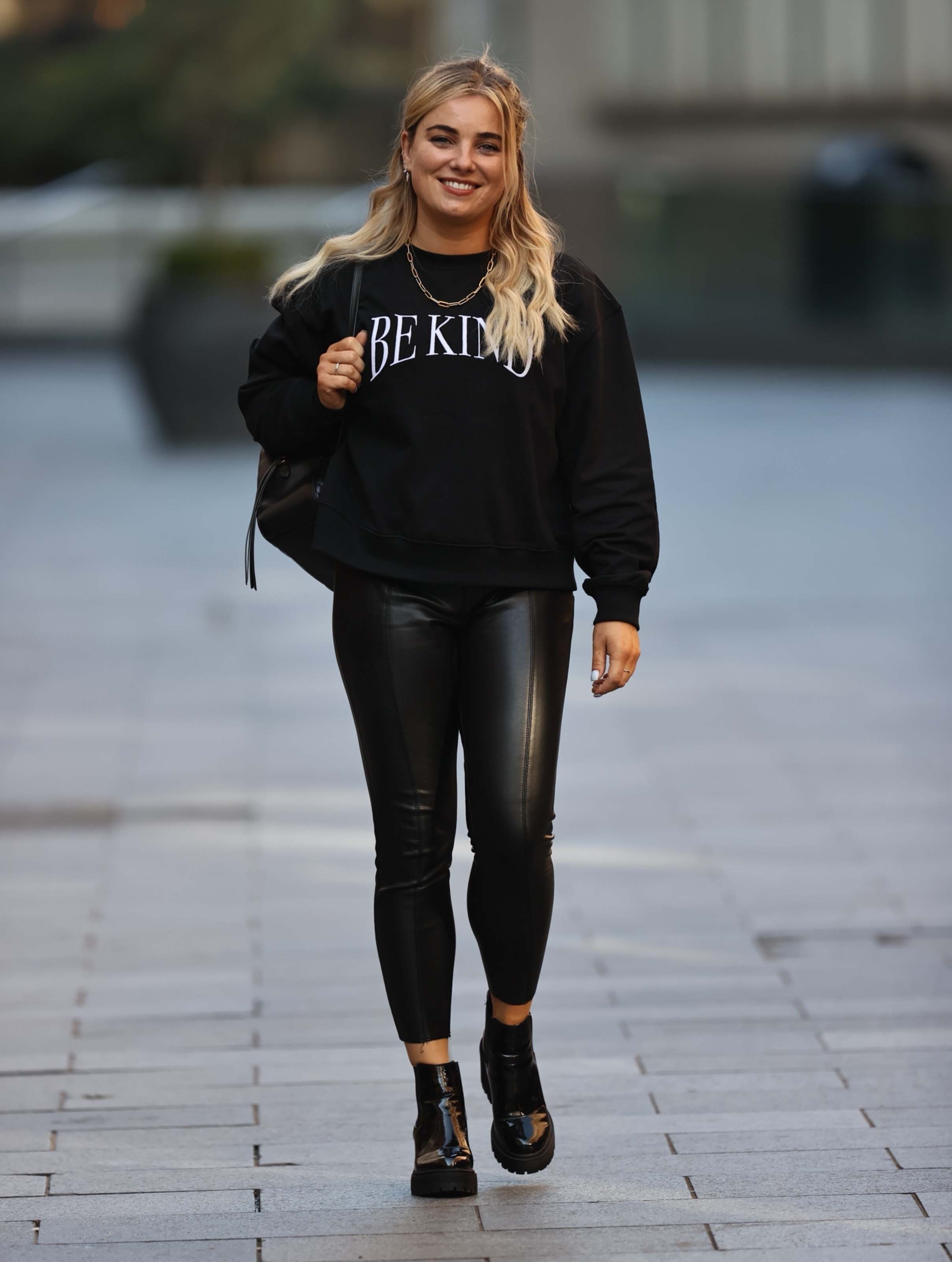 Sian Welby seen at Capital radio in London