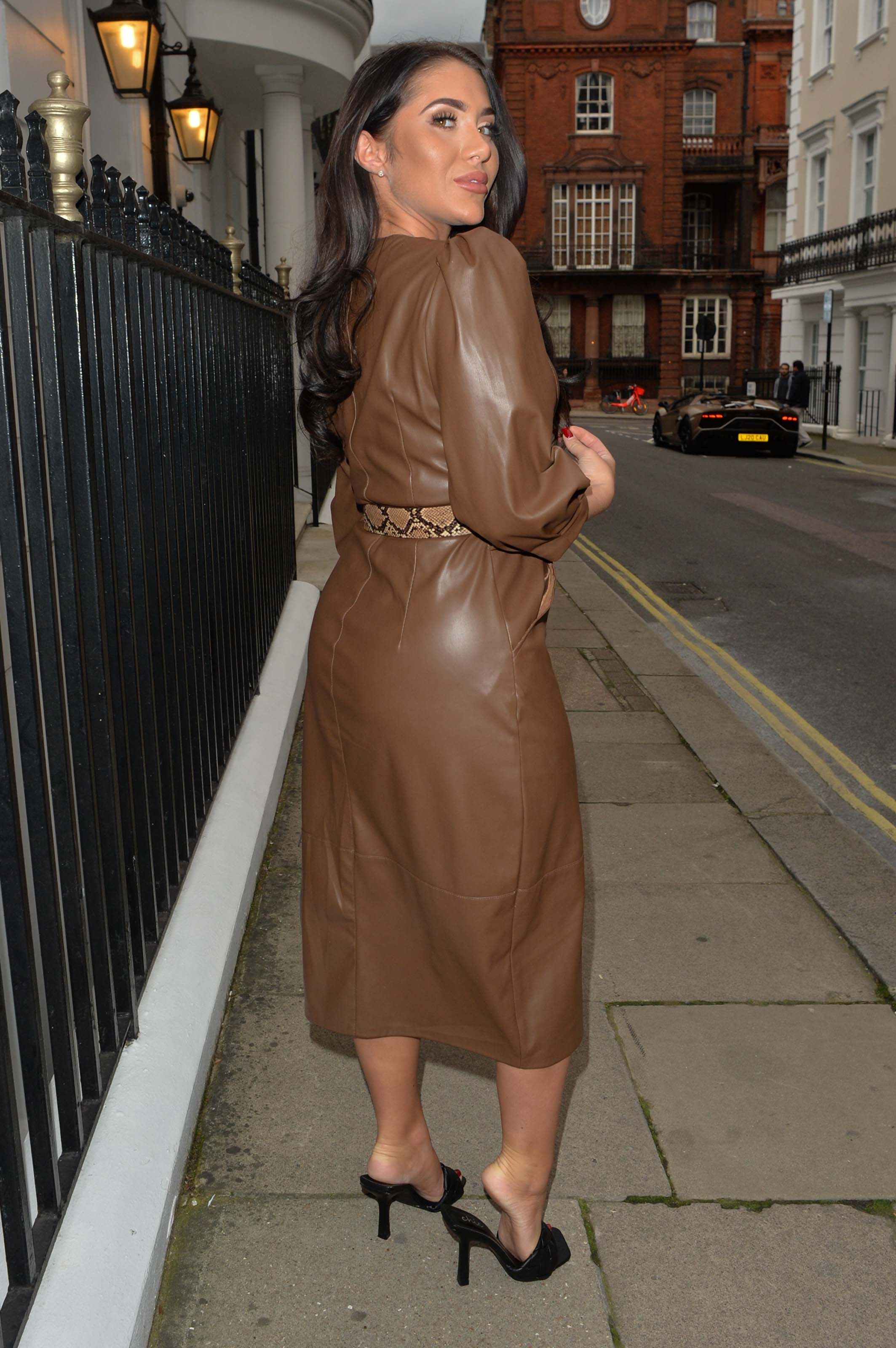 Chloe Brockett seen at Dorchester hotel in Mayfair