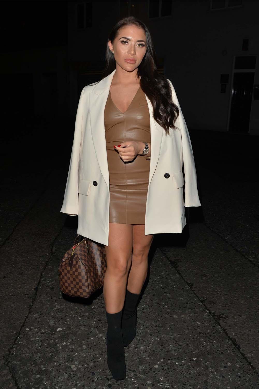 Chloe Brockett seen at Amazonico restaurant in Mayfair, London