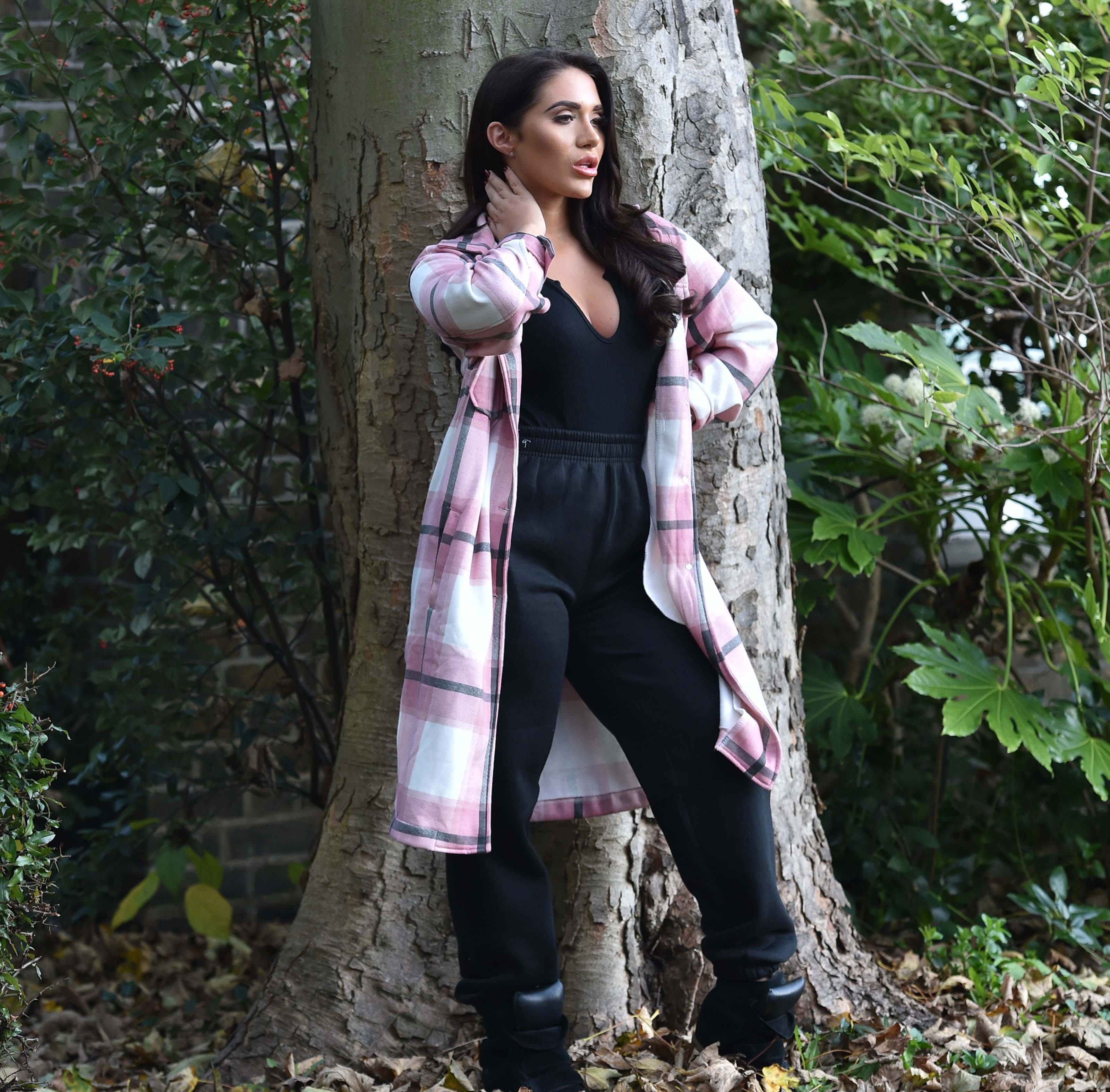Chloe Brockett doing a photoshoot for the hella shop clothing brand in Brentwood, Essex