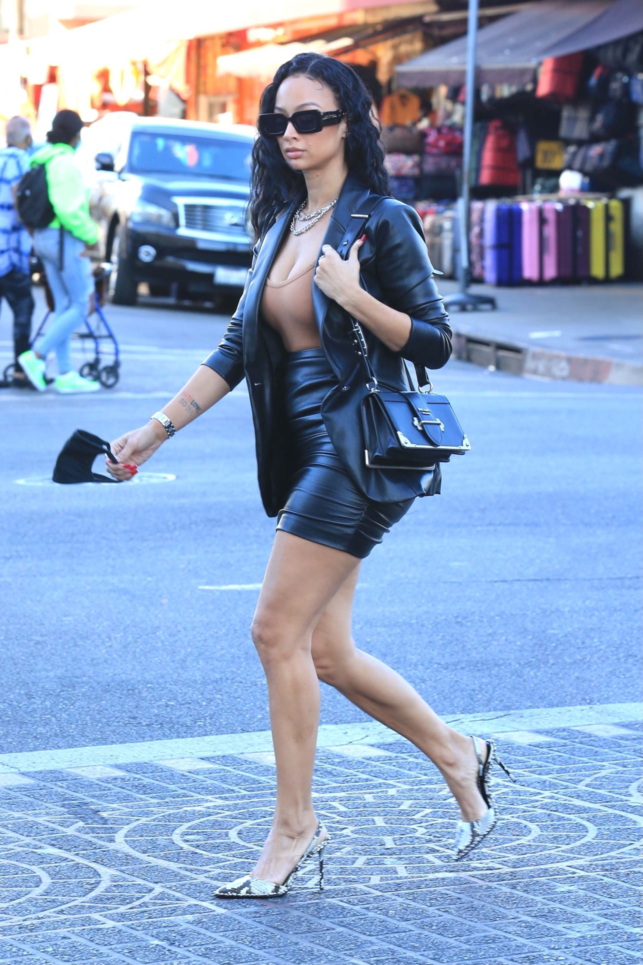Draya Michele out in Downtown Los Angeles