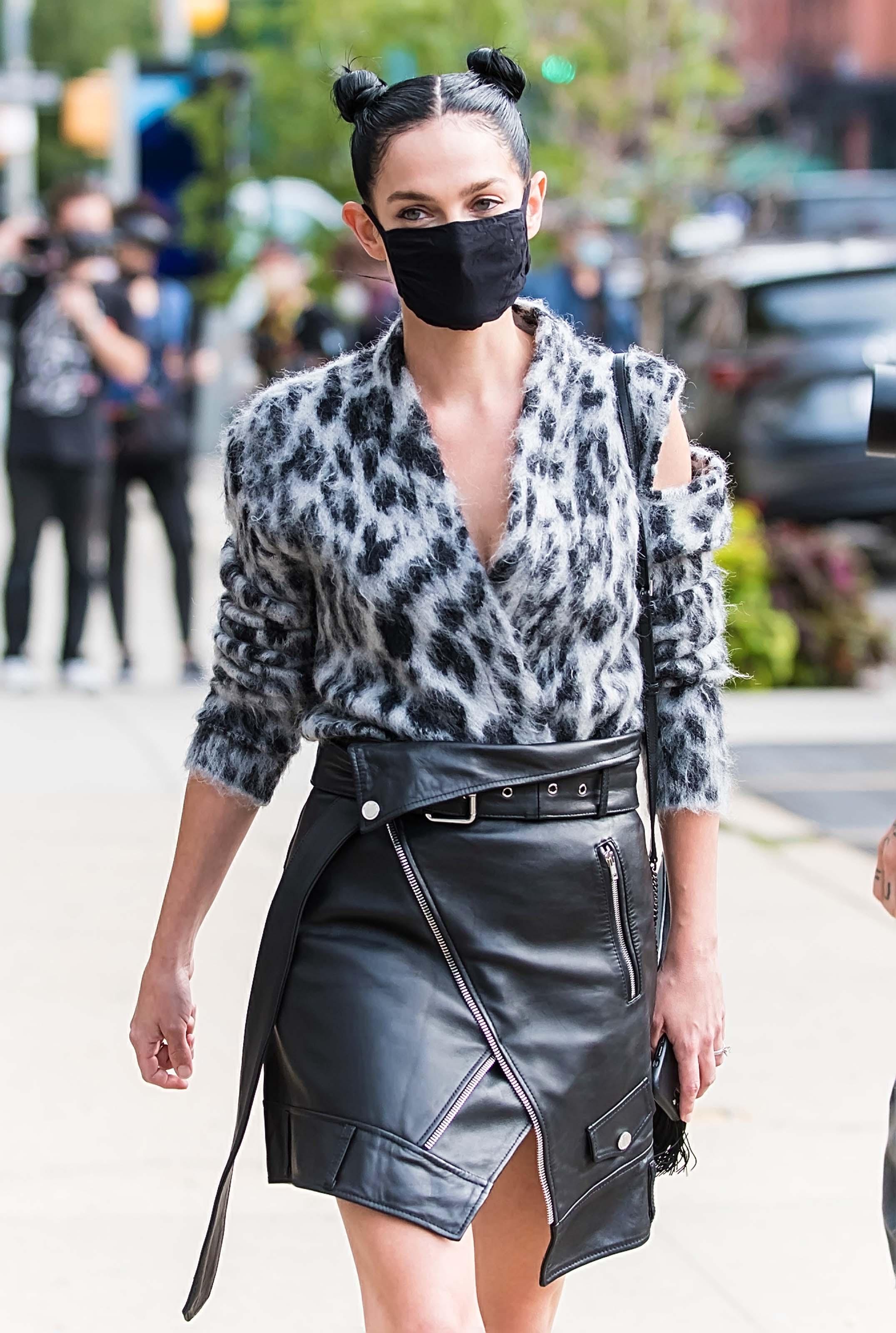 Leigh Lezark at Monse Fall/Winter 2020 fashion show