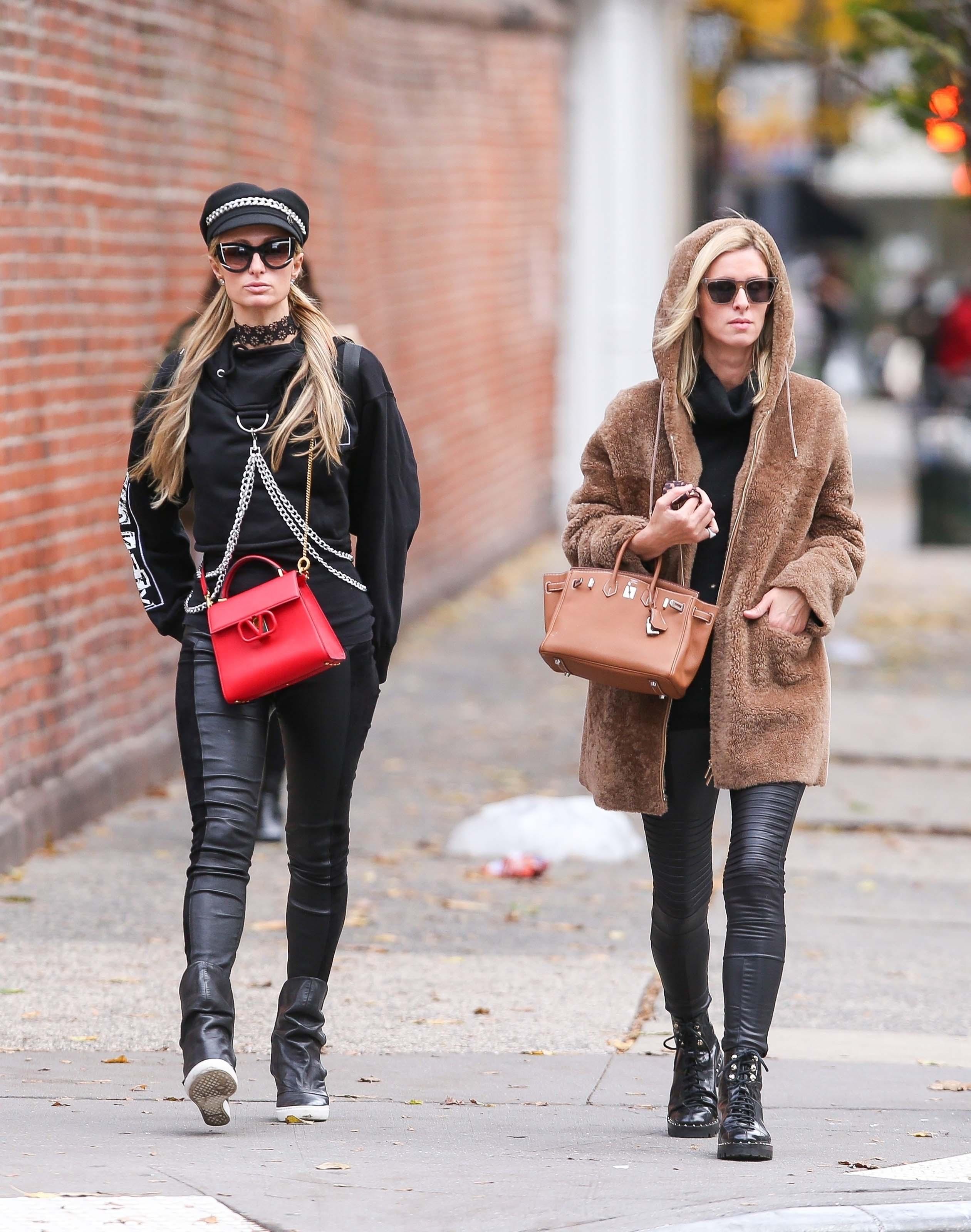 Paris Hilton & Nicky Hilton out shopping in Manhattan's Soho area