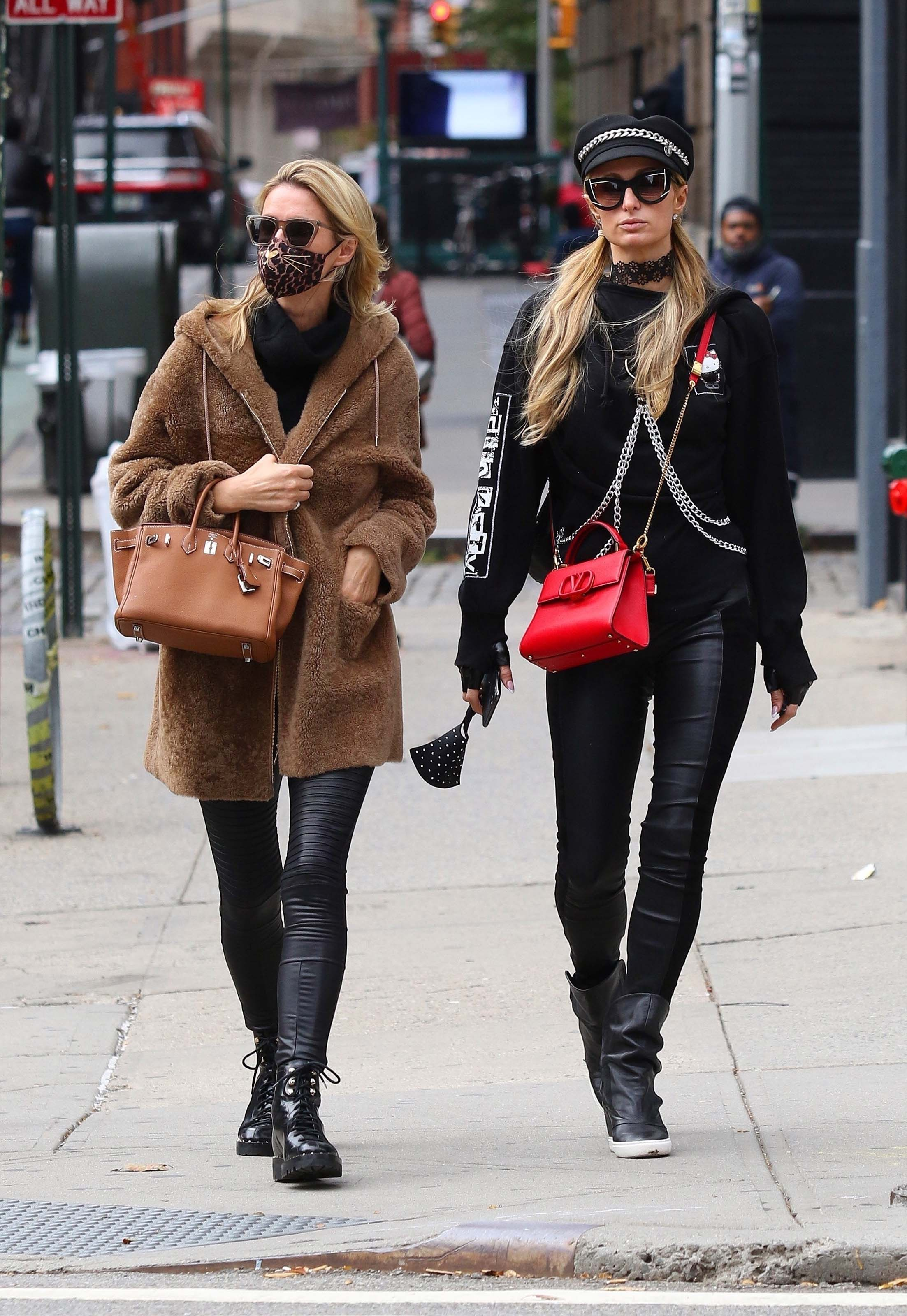 Paris Hilton & Nicky Hilton out shopping in Manhattan's Soho area