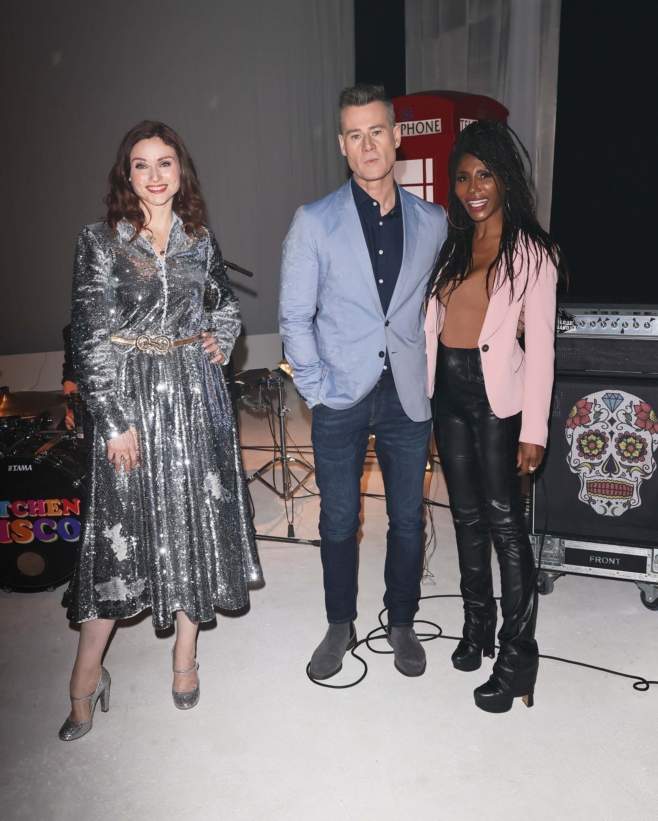 Sinitta seen at film rehearsals for New Years Day